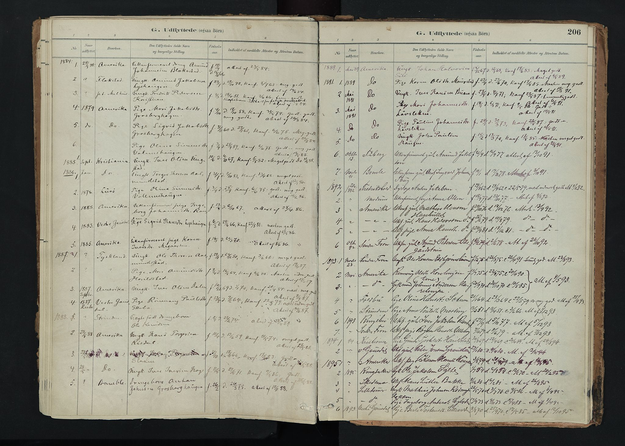 SAH, Nord-Fron prestekontor, Ministerialbok nr. 5, 1884-1914, s. 206