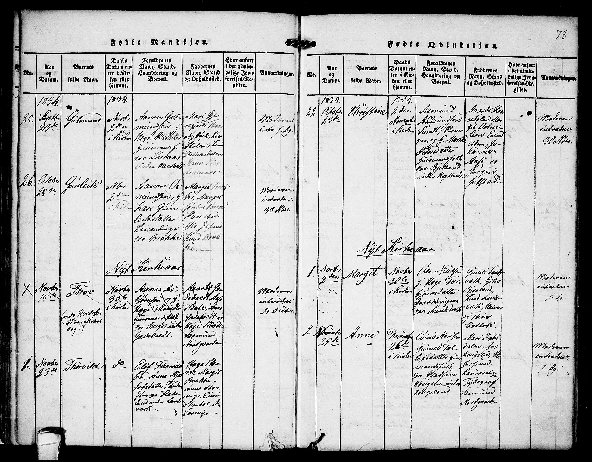 SAKO, Kviteseid kirkebøker, F/Fb/L0001: Ministerialbok nr. II 1, 1815-1836, s. 78