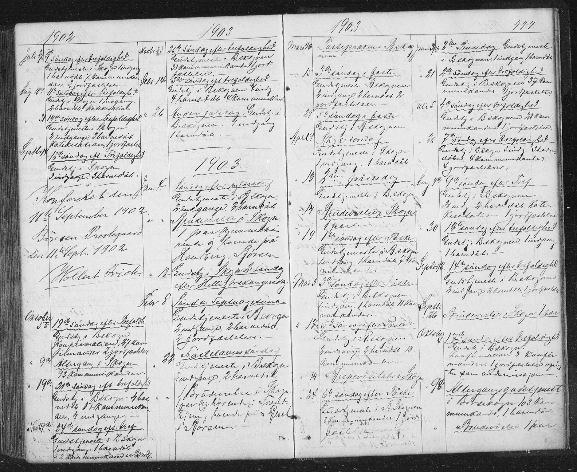 SAT, Ministerialprotokoller, klokkerbøker og fødselsregistre - Sør-Trøndelag, 667/L0798: Klokkerbok nr. 667C03, 1867-1929, s. 444