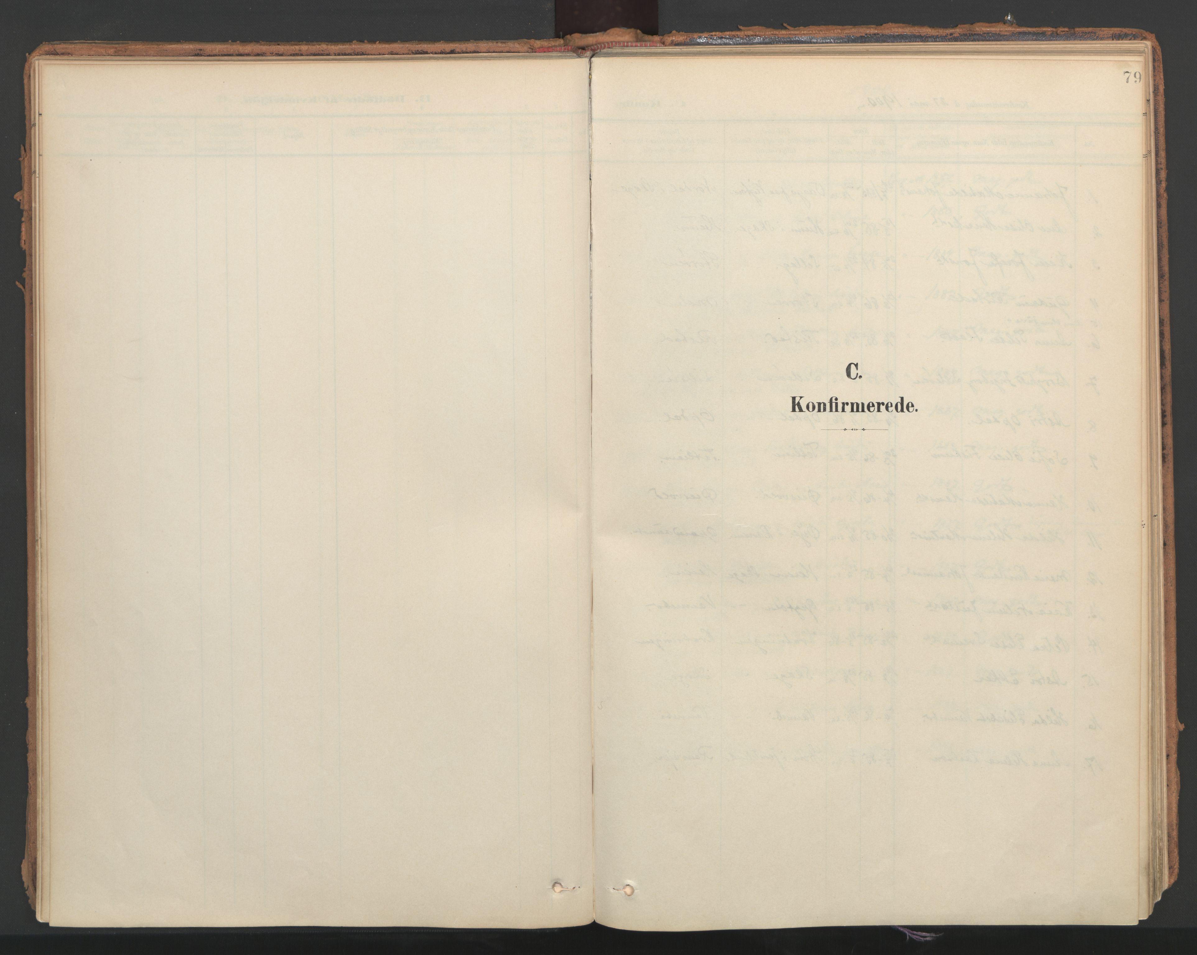 SAT, Ministerialprotokoller, klokkerbøker og fødselsregistre - Nord-Trøndelag, 766/L0564: Ministerialbok nr. 767A02, 1900-1932, s. 79
