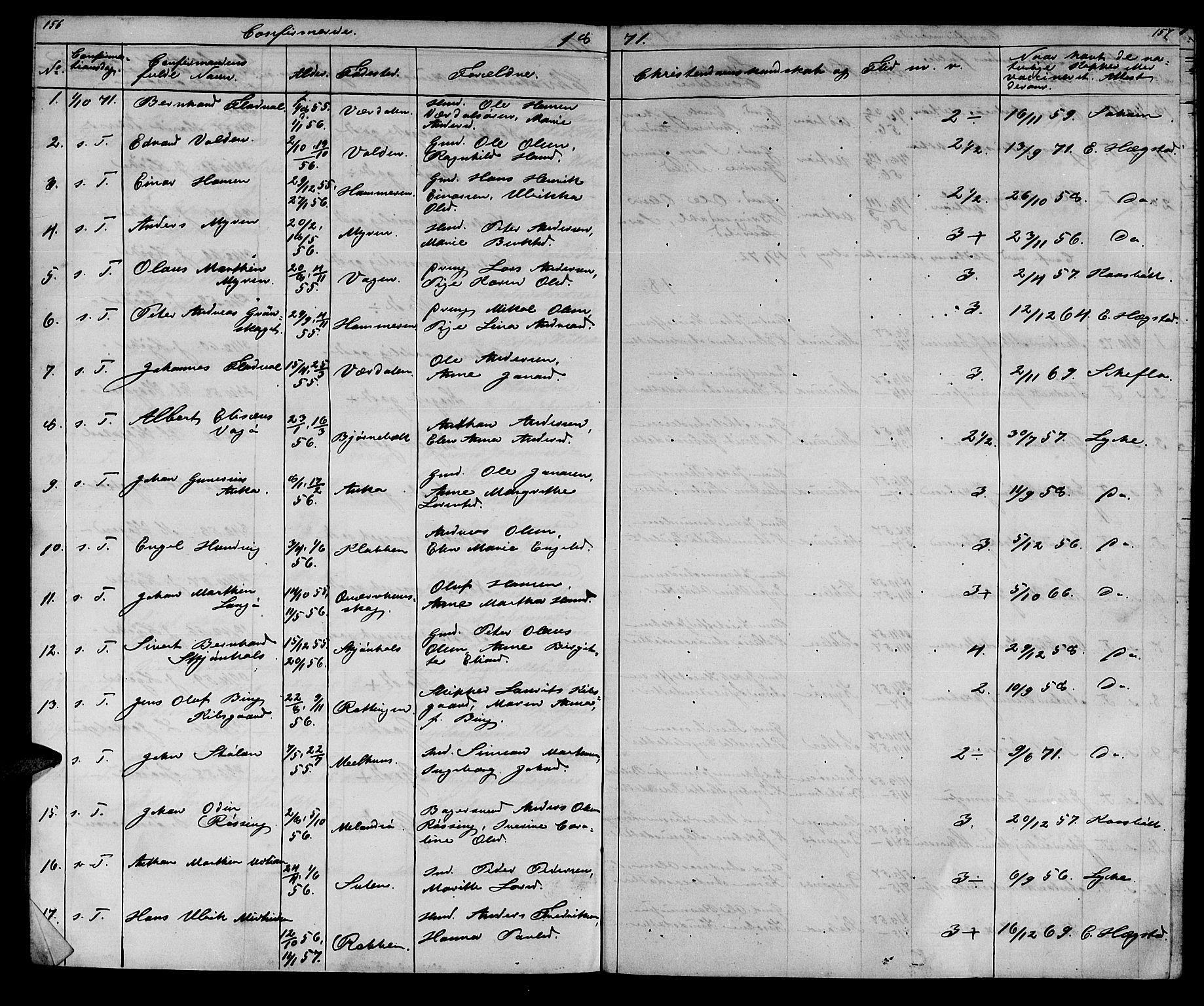 SAT, Ministerialprotokoller, klokkerbøker og fødselsregistre - Sør-Trøndelag, 640/L0583: Klokkerbok nr. 640C01, 1866-1877, s. 156-157