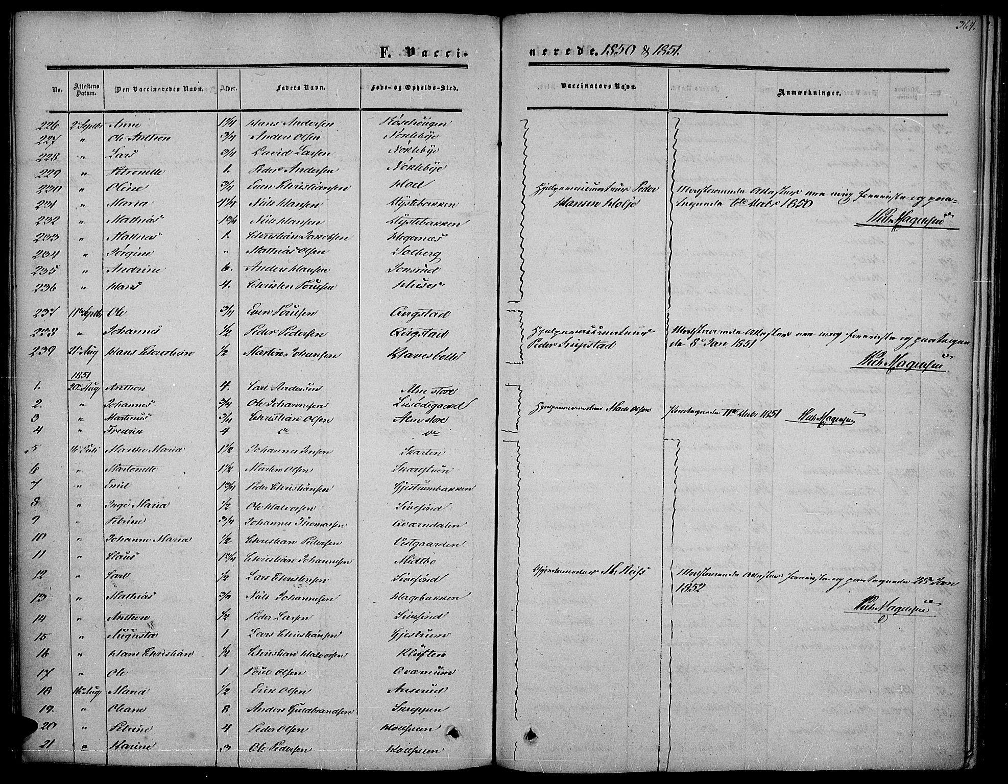 SAH, Vestre Toten prestekontor, Ministerialbok nr. 5, 1850-1855, s. 364