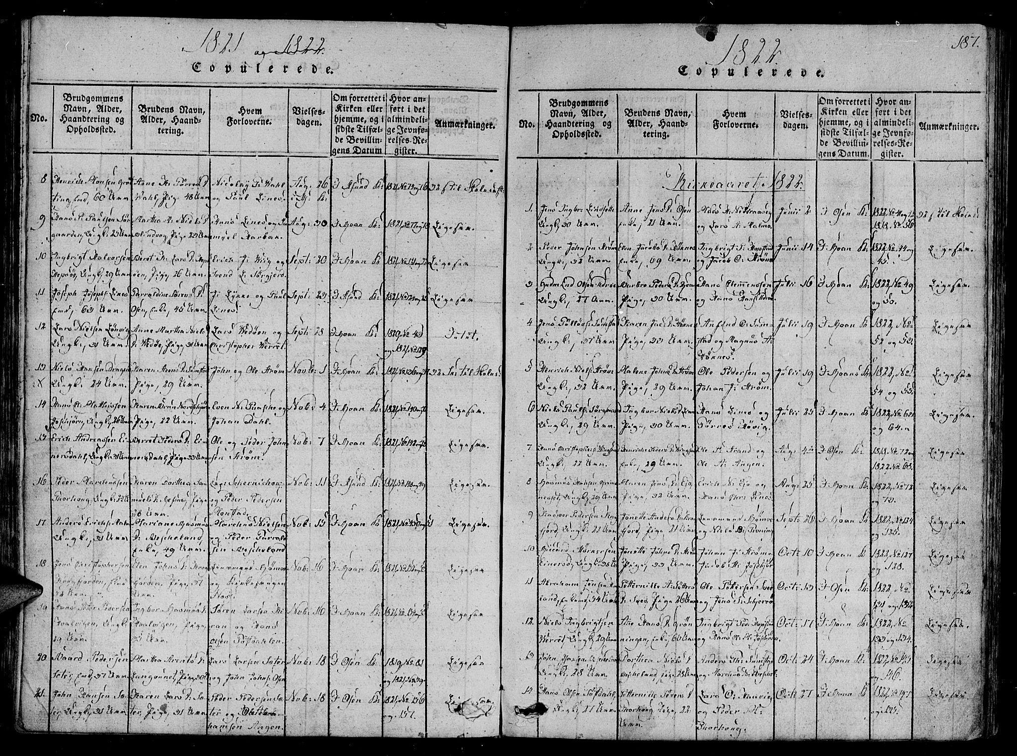 SAT, Ministerialprotokoller, klokkerbøker og fødselsregistre - Sør-Trøndelag, 657/L0702: Ministerialbok nr. 657A03, 1818-1831, s. 187