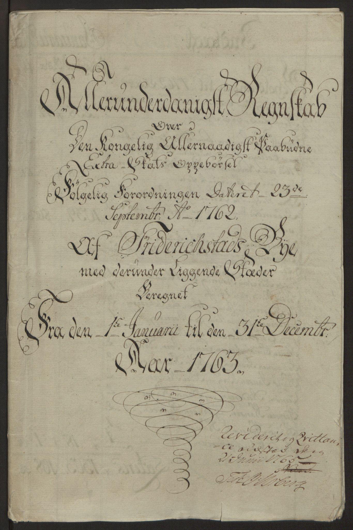 RA, Rentekammeret inntil 1814, Reviderte regnskaper, Byregnskaper, R/Rb/L0029: [B3] Kontribusjonsregnskap, 1762-1772, s. 58
