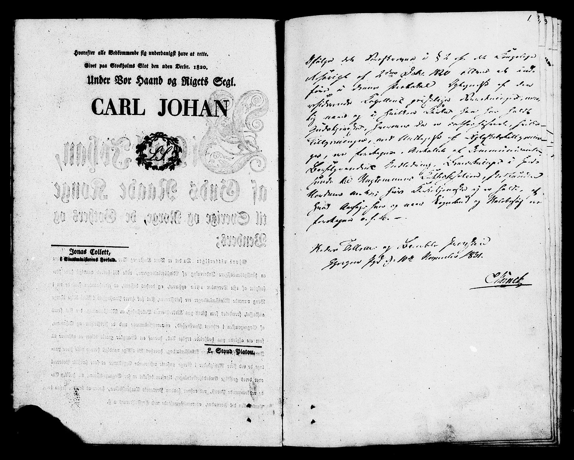 SAKO, Eidanger kirkebøker, F/Fa/L0009: Ministerialbok nr. 9, 1831-1849, s. 1