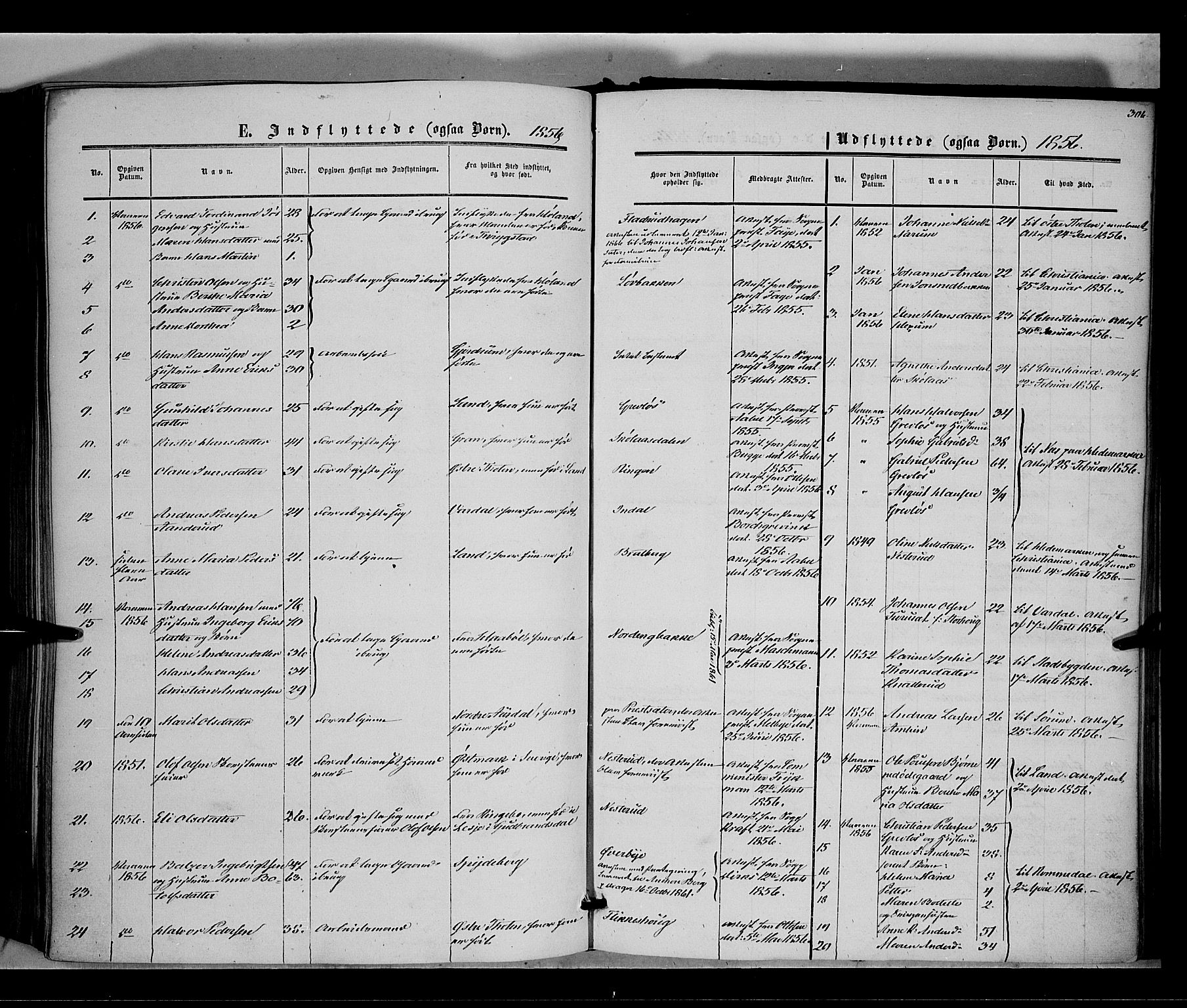 SAH, Vestre Toten prestekontor, Ministerialbok nr. 6, 1856-1861, s. 306