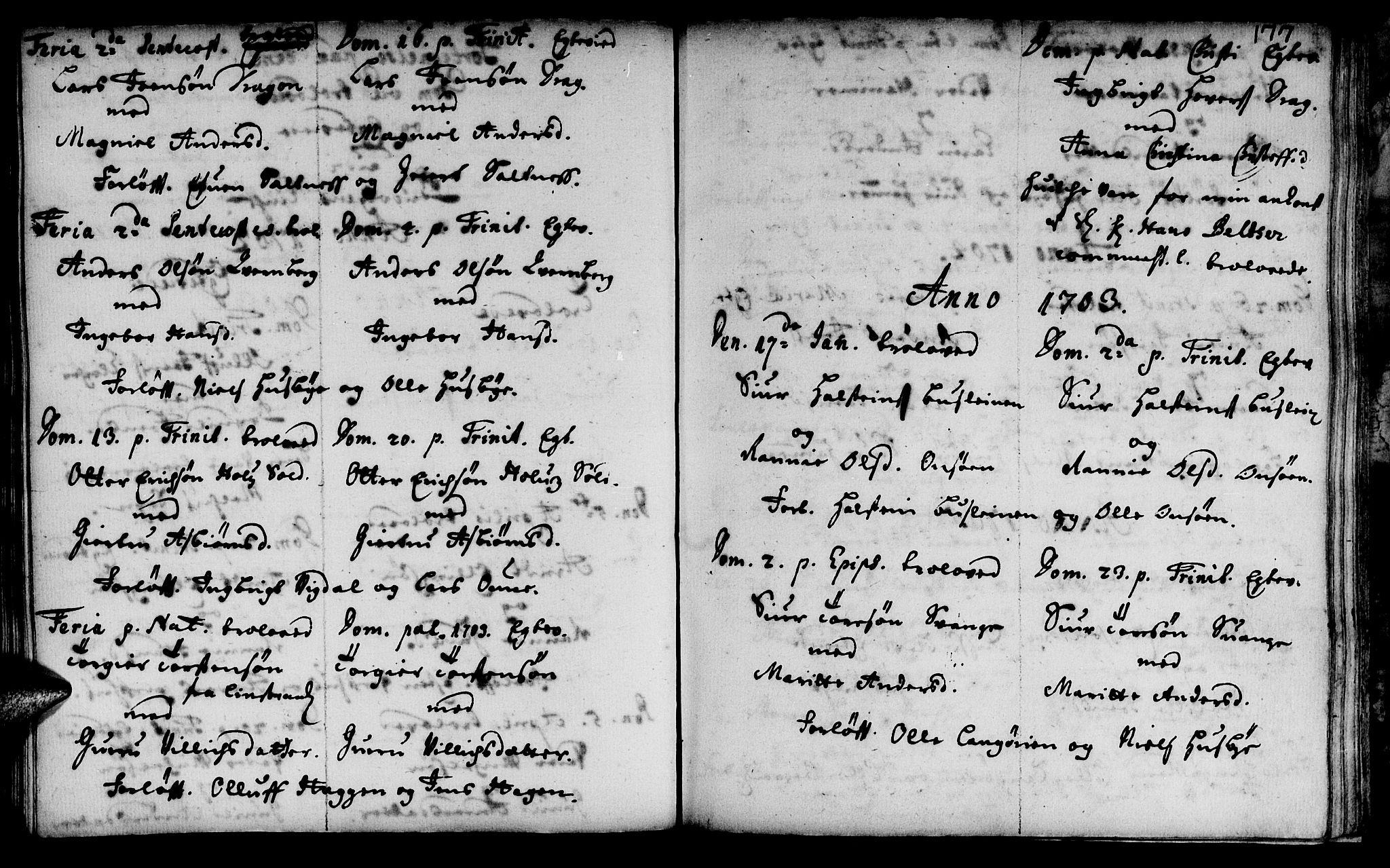 SAT, Ministerialprotokoller, klokkerbøker og fødselsregistre - Sør-Trøndelag, 666/L0783: Ministerialbok nr. 666A01, 1702-1753, s. 177