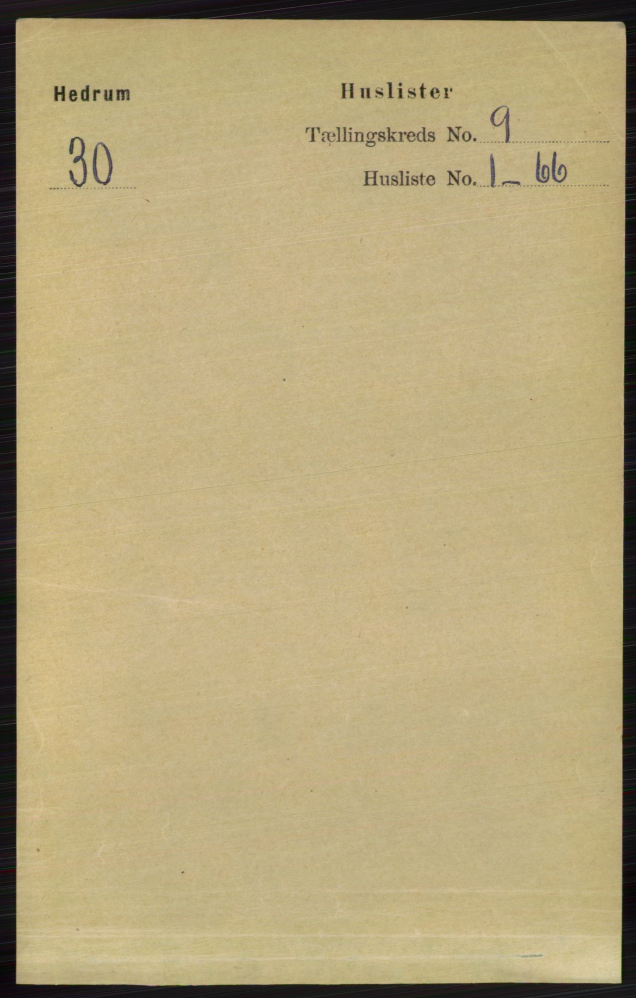 RA, Folketelling 1891 for 0727 Hedrum herred, 1891, s. 3848