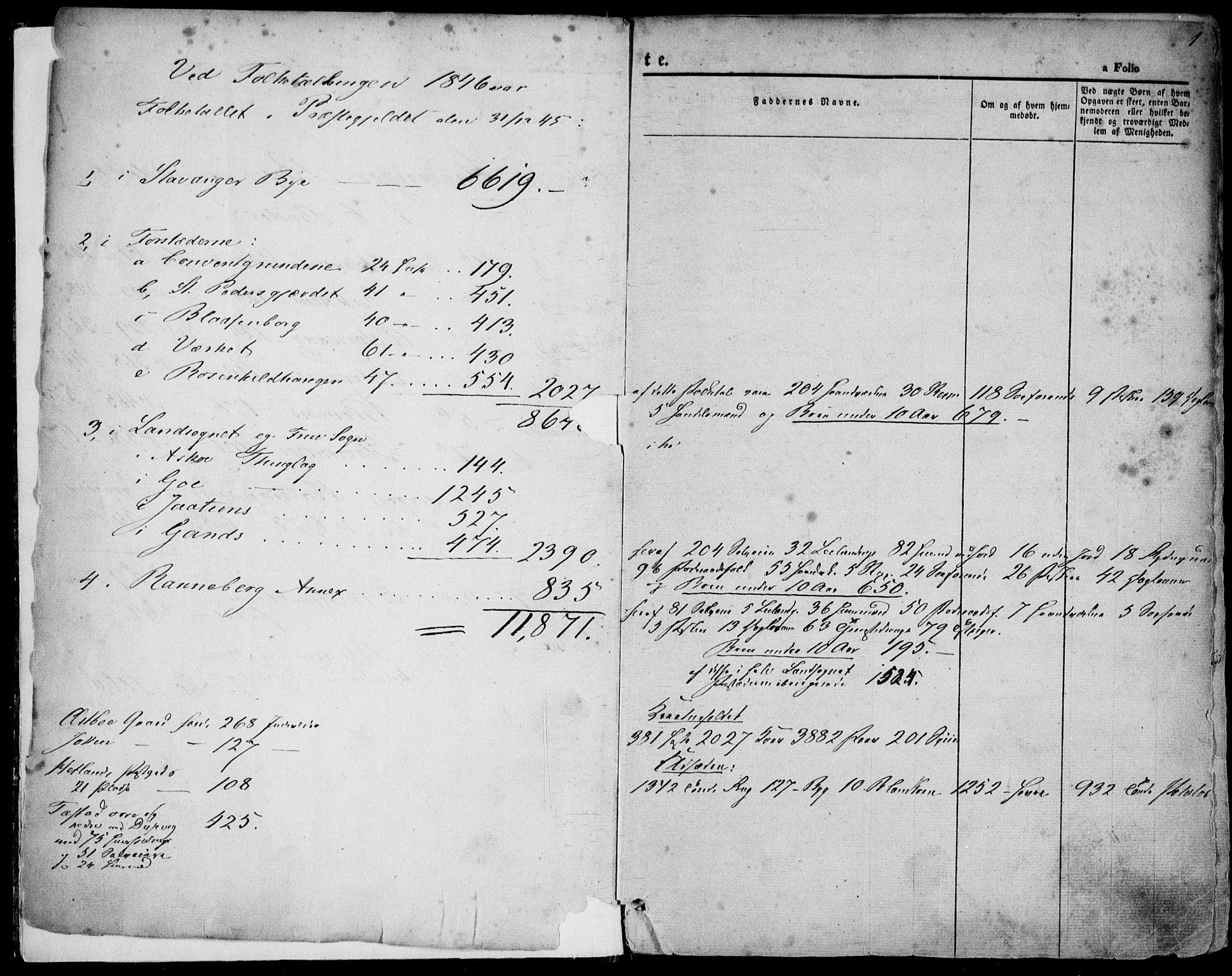 SAST, Domkirken sokneprestkontor, 30/30BA/L0016: Ministerialbok nr. A 15, 1844-1854, s. 1
