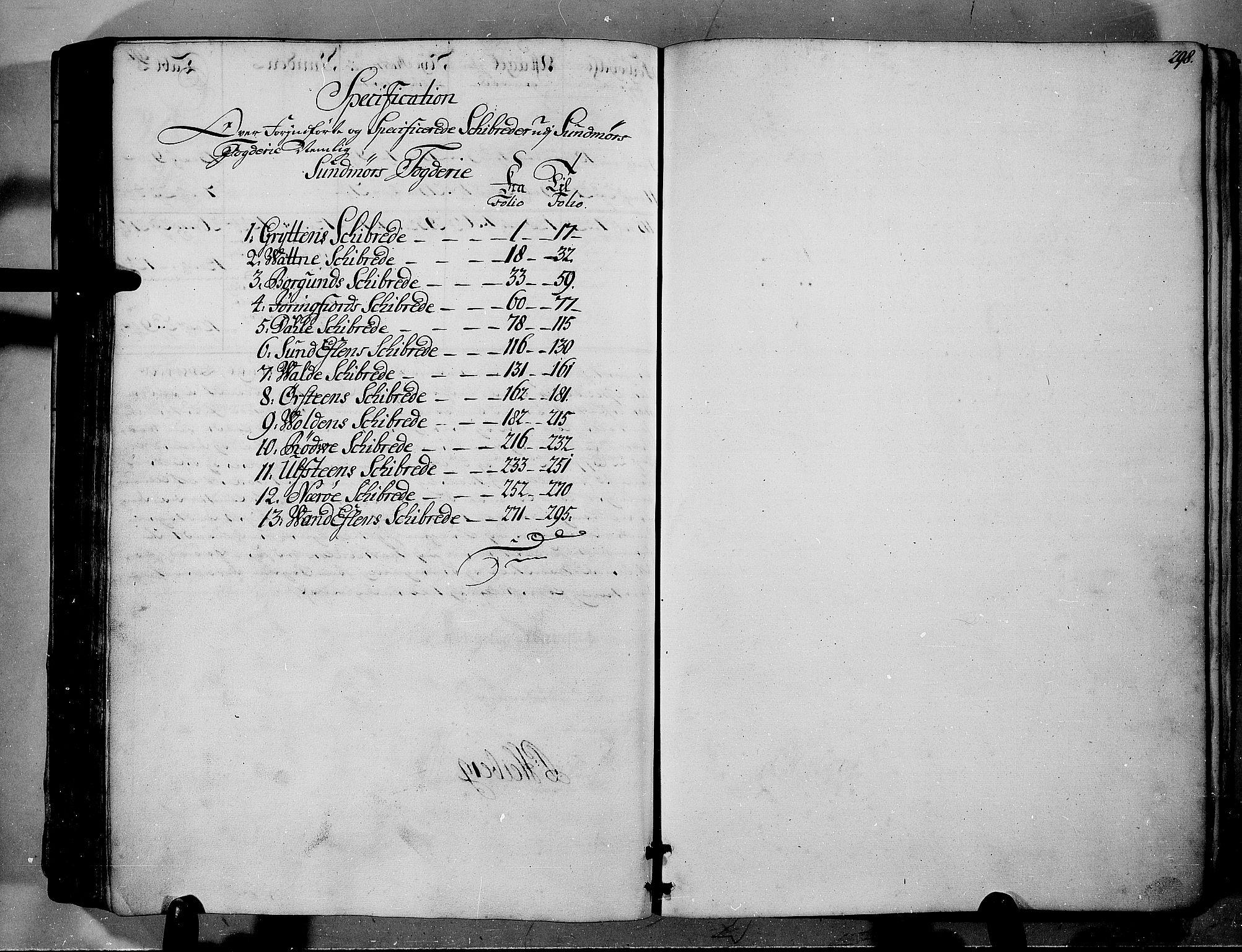RA, Rentekammeret inntil 1814, Realistisk ordnet avdeling, N/Nb/Nbf/L0150: Sunnmøre eksaminasjonsprotokoll, 1724, s. 297b-298a