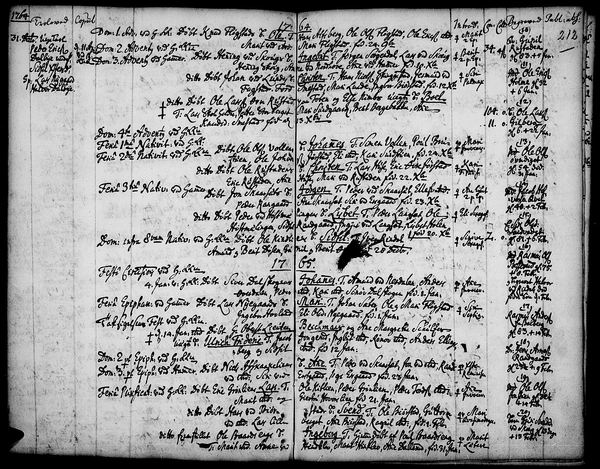 SAH, Fåberg prestekontor, Ministerialbok nr. 1, 1727-1775, s. 212