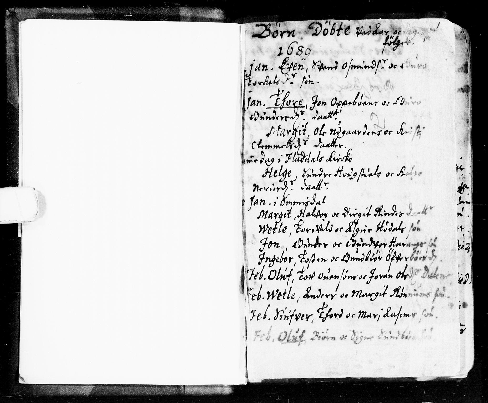 SAKO, Seljord kirkebøker, F/Fa/L0002: Ministerialbok nr. I 2, 1689-1713, s. 0-1