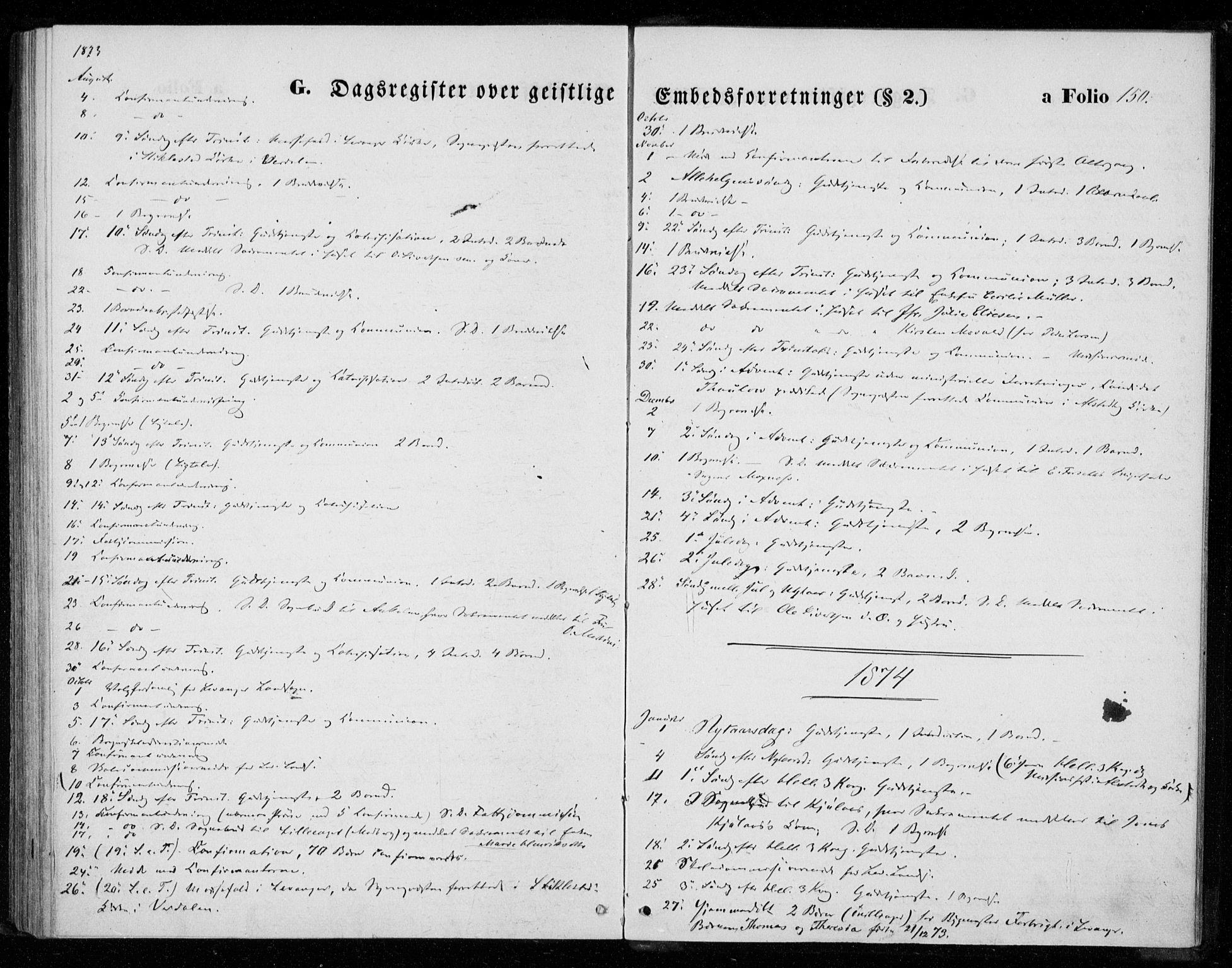 SAT, Ministerialprotokoller, klokkerbøker og fødselsregistre - Nord-Trøndelag, 720/L0186: Ministerialbok nr. 720A03, 1864-1874, s. 150