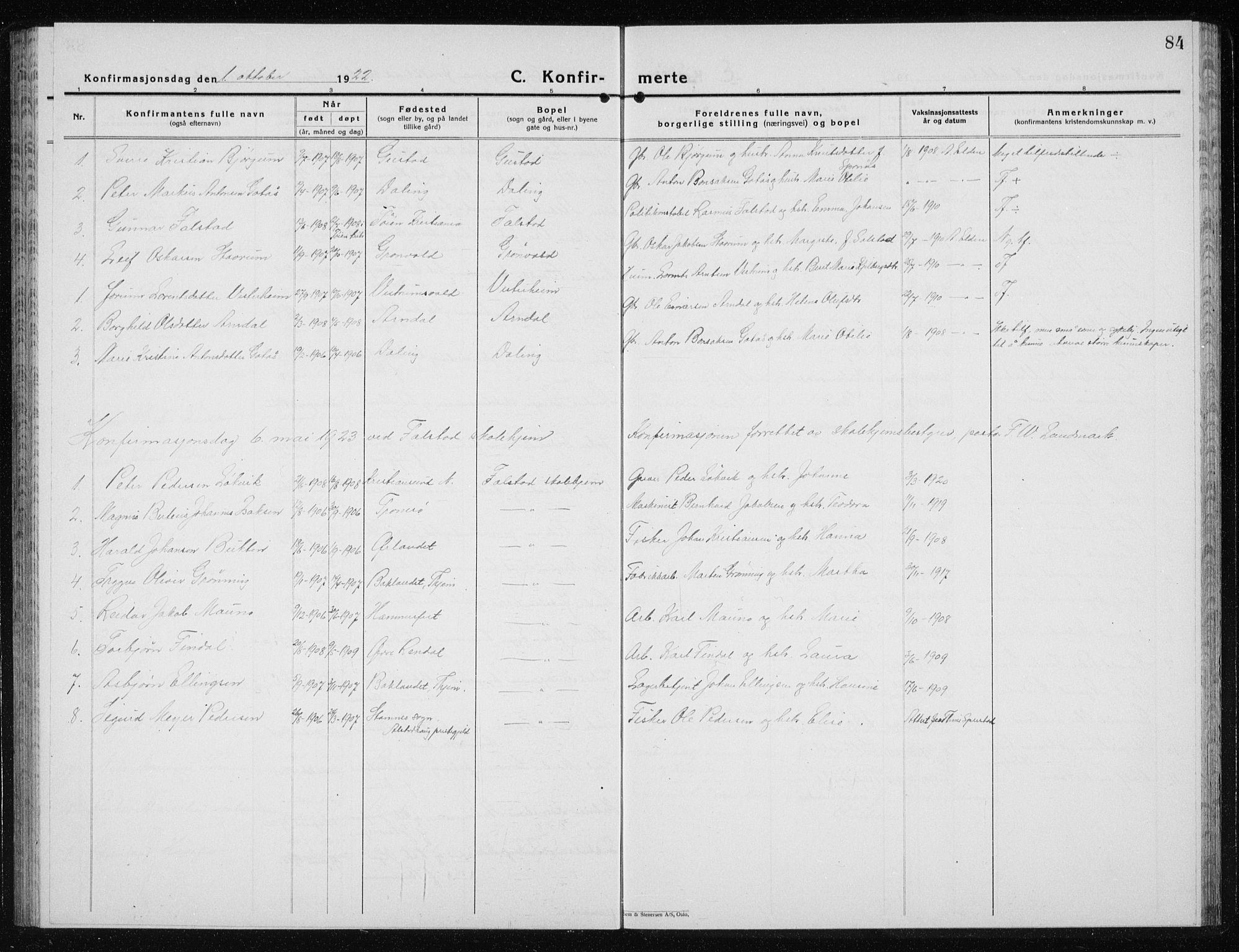 SAT, Ministerialprotokoller, klokkerbøker og fødselsregistre - Nord-Trøndelag, 719/L0180: Klokkerbok nr. 719C01, 1878-1940, s. 84