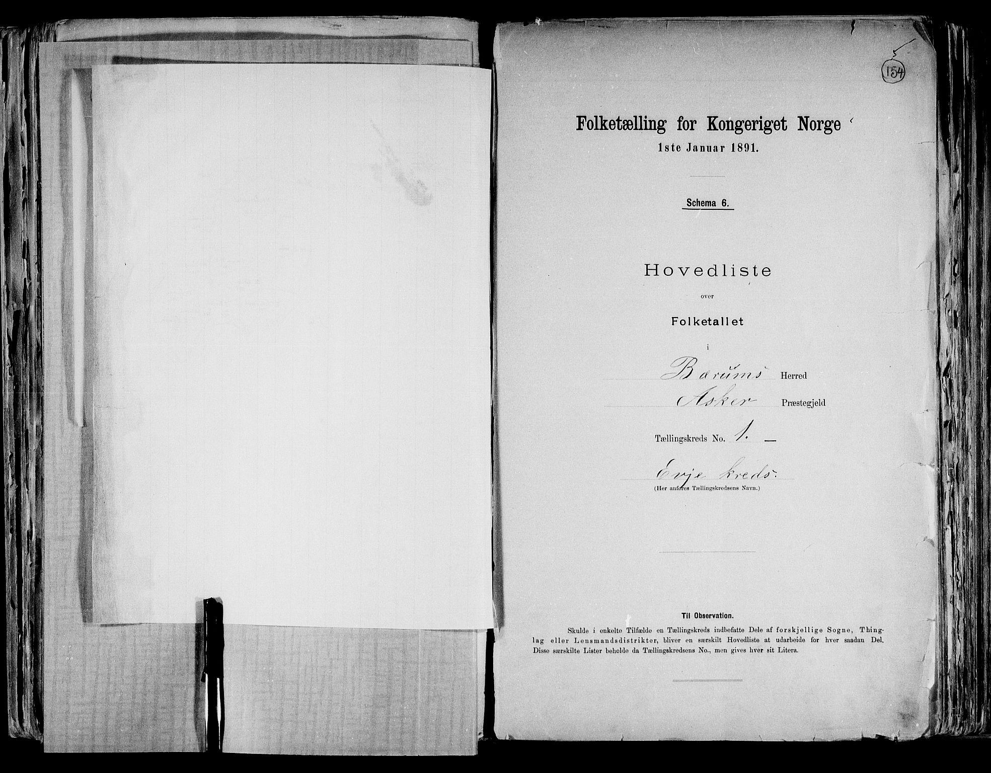 RA, Folketelling 1891 for 0219 Bærum herred, 1891, s. 13