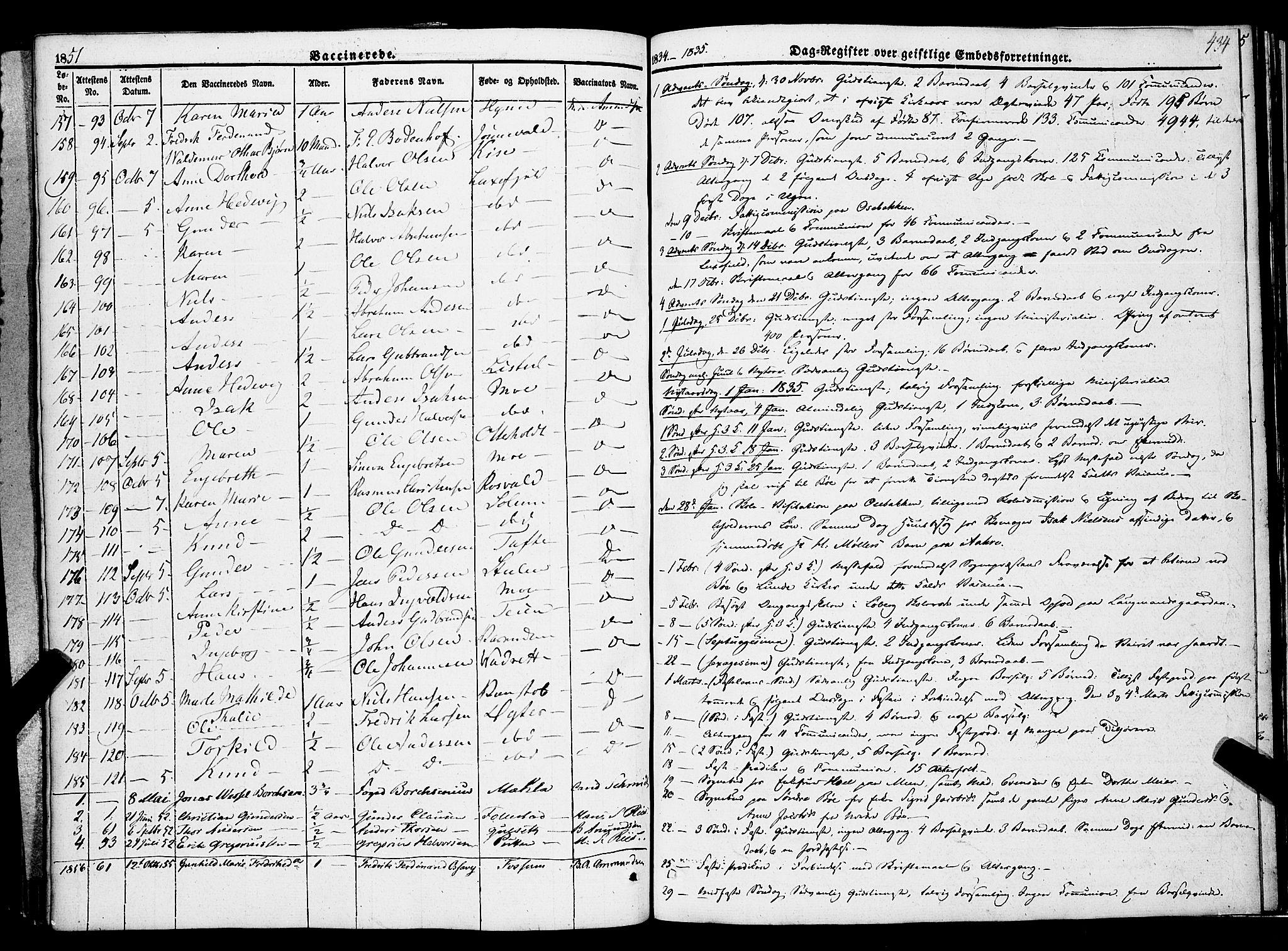 SAKO, Gjerpen kirkebøker, F/Fa/L0007b: Ministerialbok nr. 7B, 1834-1857, s. 434