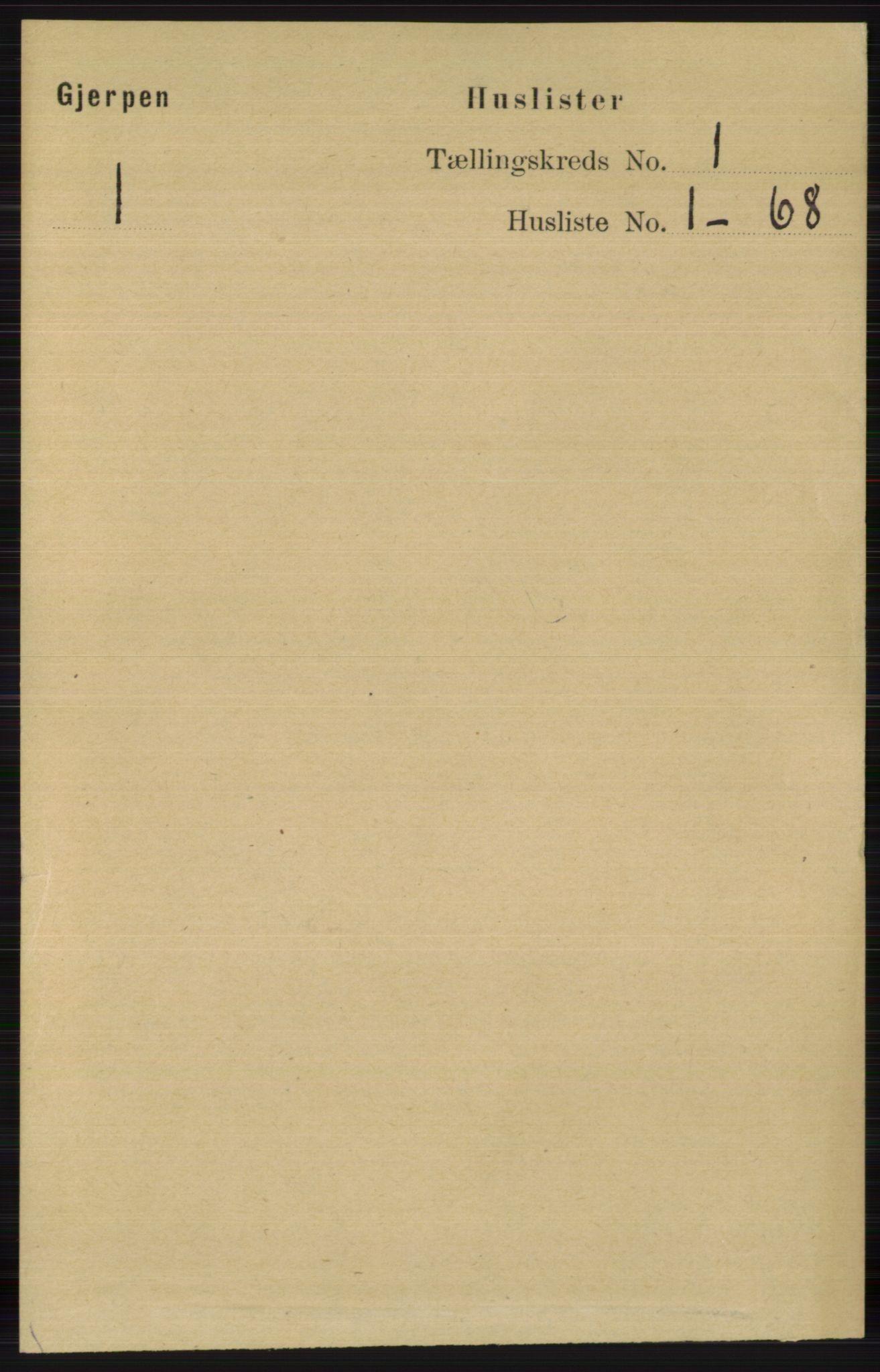 RA, Folketelling 1891 for 0812 Gjerpen herred, 1891, s. 35