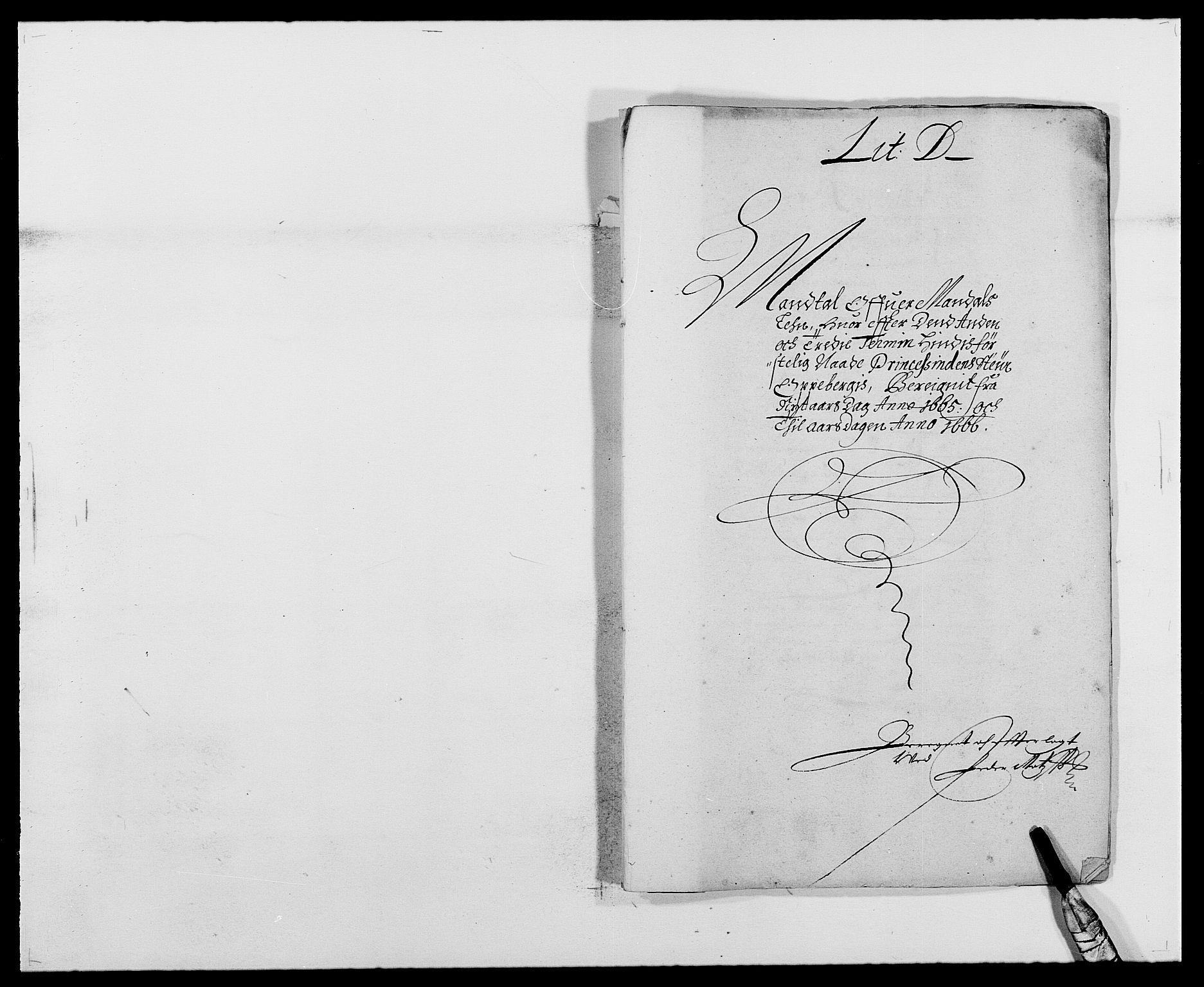 RA, Rentekammeret inntil 1814, Reviderte regnskaper, Fogderegnskap, R42/L2537: Mandal fogderi, 1664-1666, s. 162