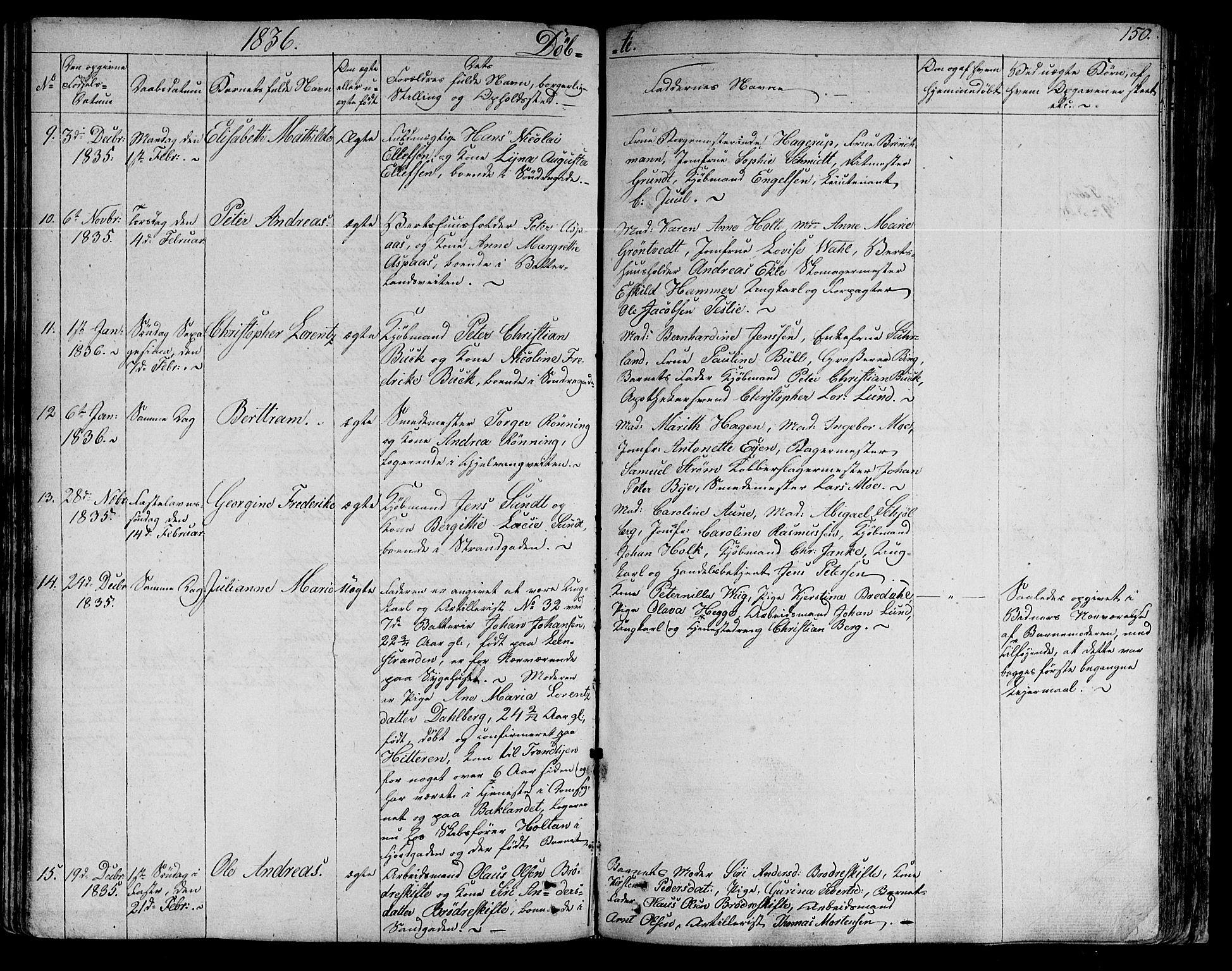 SAT, Ministerialprotokoller, klokkerbøker og fødselsregistre - Sør-Trøndelag, 602/L0108: Ministerialbok nr. 602A06, 1821-1839, s. 150