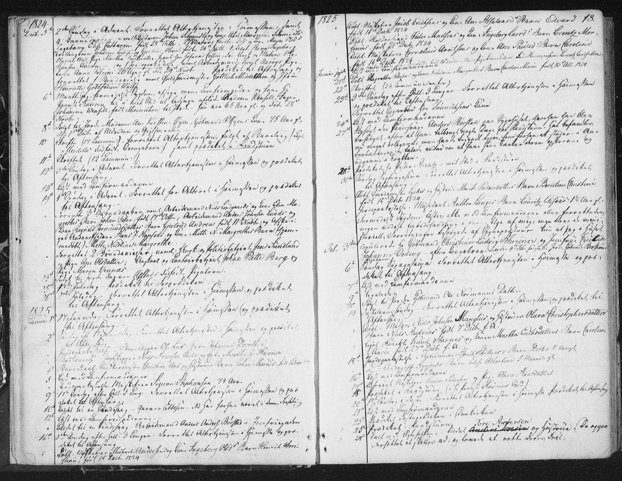 SAT, Ministerialprotokoller, klokkerbøker og fødselsregistre - Sør-Trøndelag, 602/L0127: Residerende kapellans bok nr. 602B01, 1821-1875, s. 18