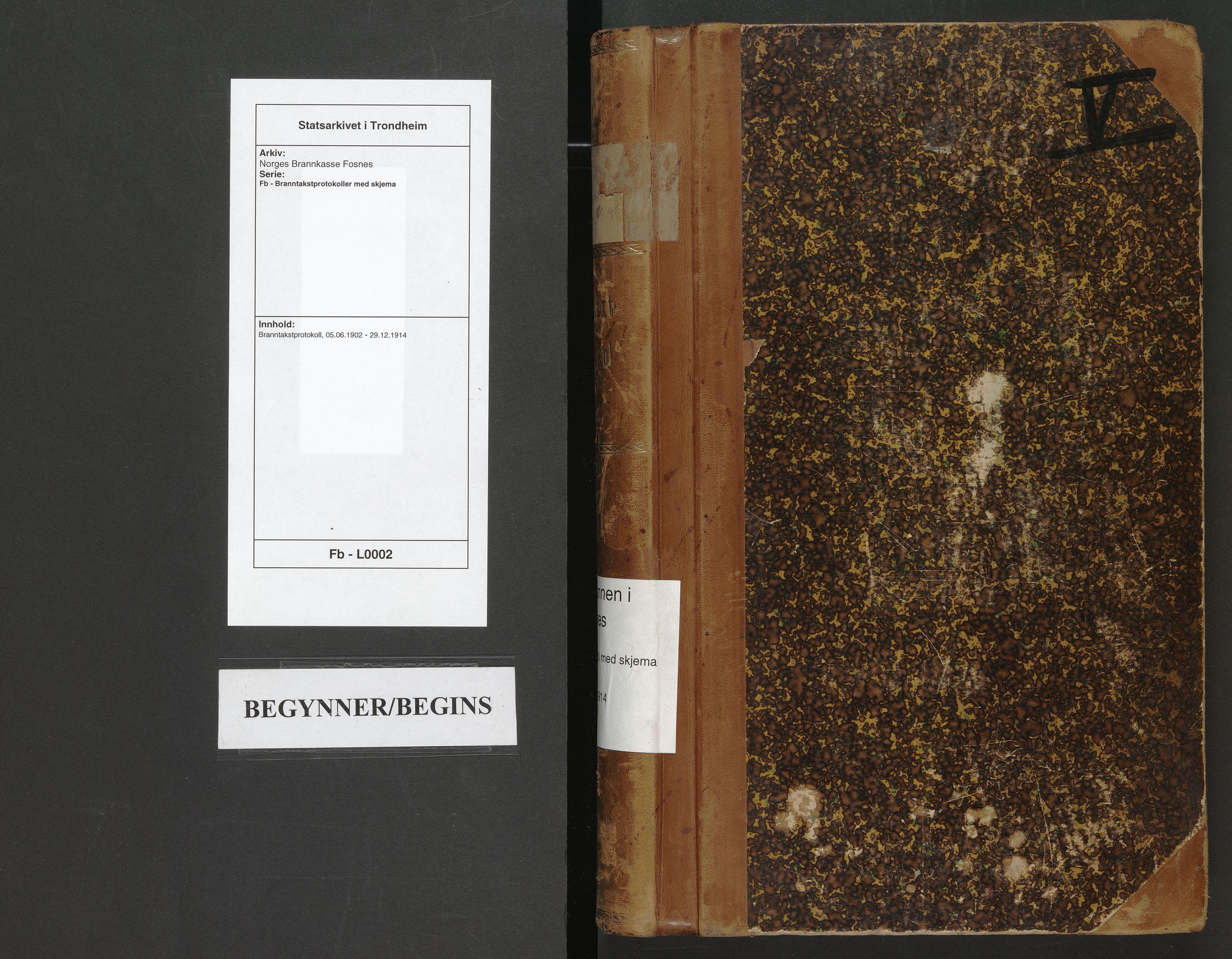 SAT, Norges Brannkasse Fosnes, Fb/L0002: Branntakstprotokoll, 1902-1914