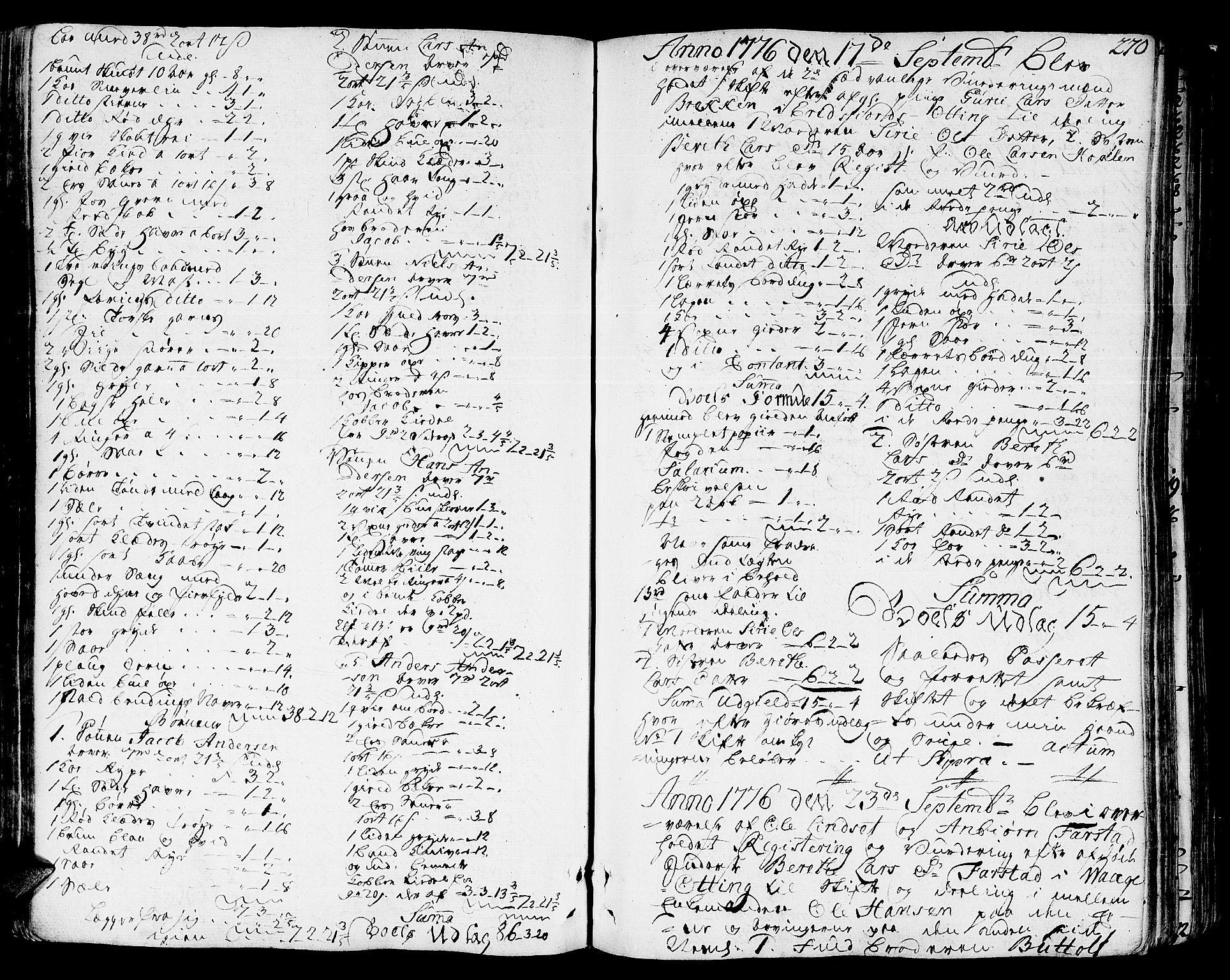 SAT, Romsdal sorenskriveri, 3/3A/L0010: Skifteprotokoll, 1774-1782, s. 269b-270a