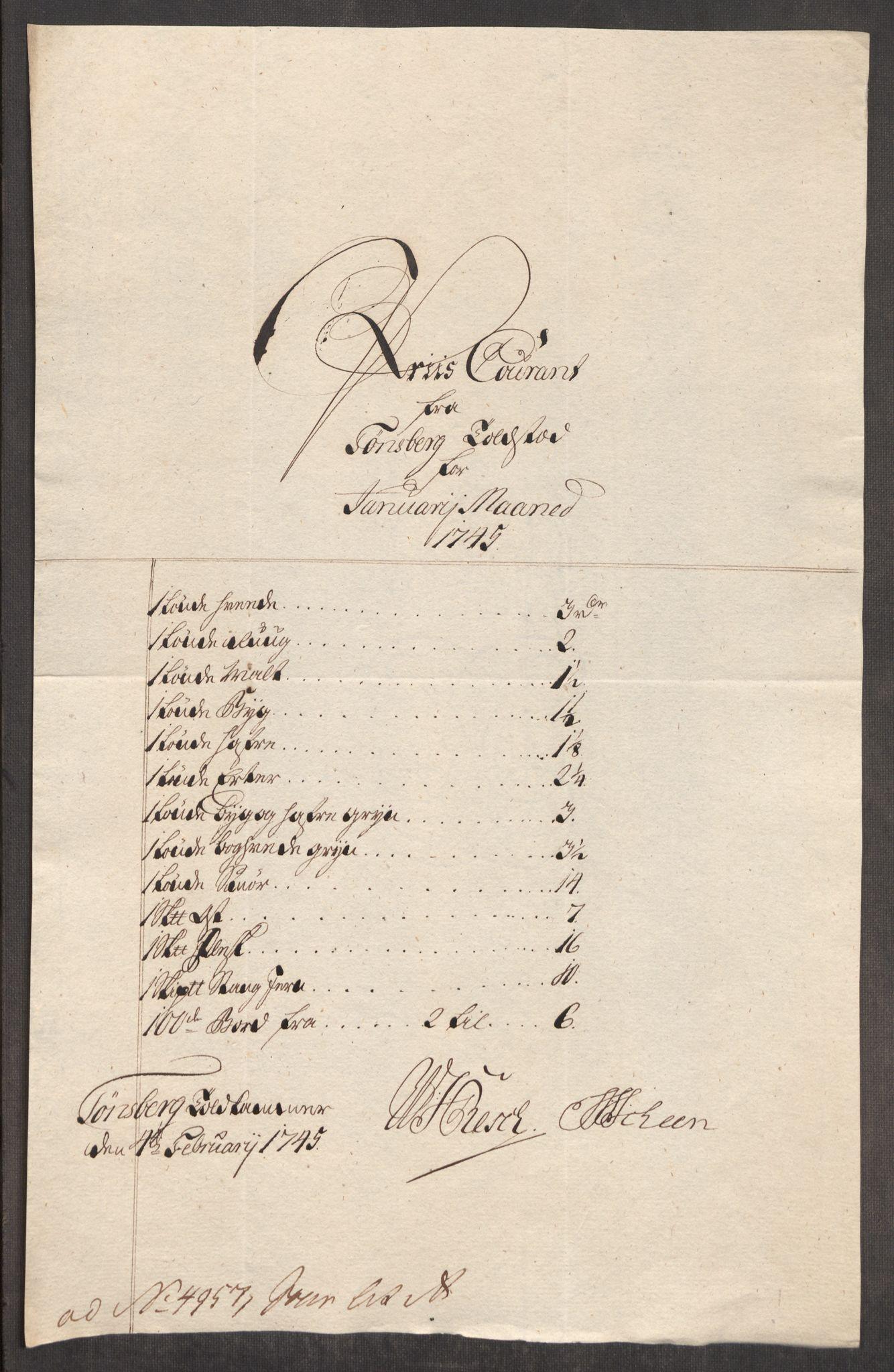 RA, Rentekammeret inntil 1814, Realistisk ordnet avdeling, Oe/L0003: [Ø1]: Priskuranter, 1745-1748, s. 93