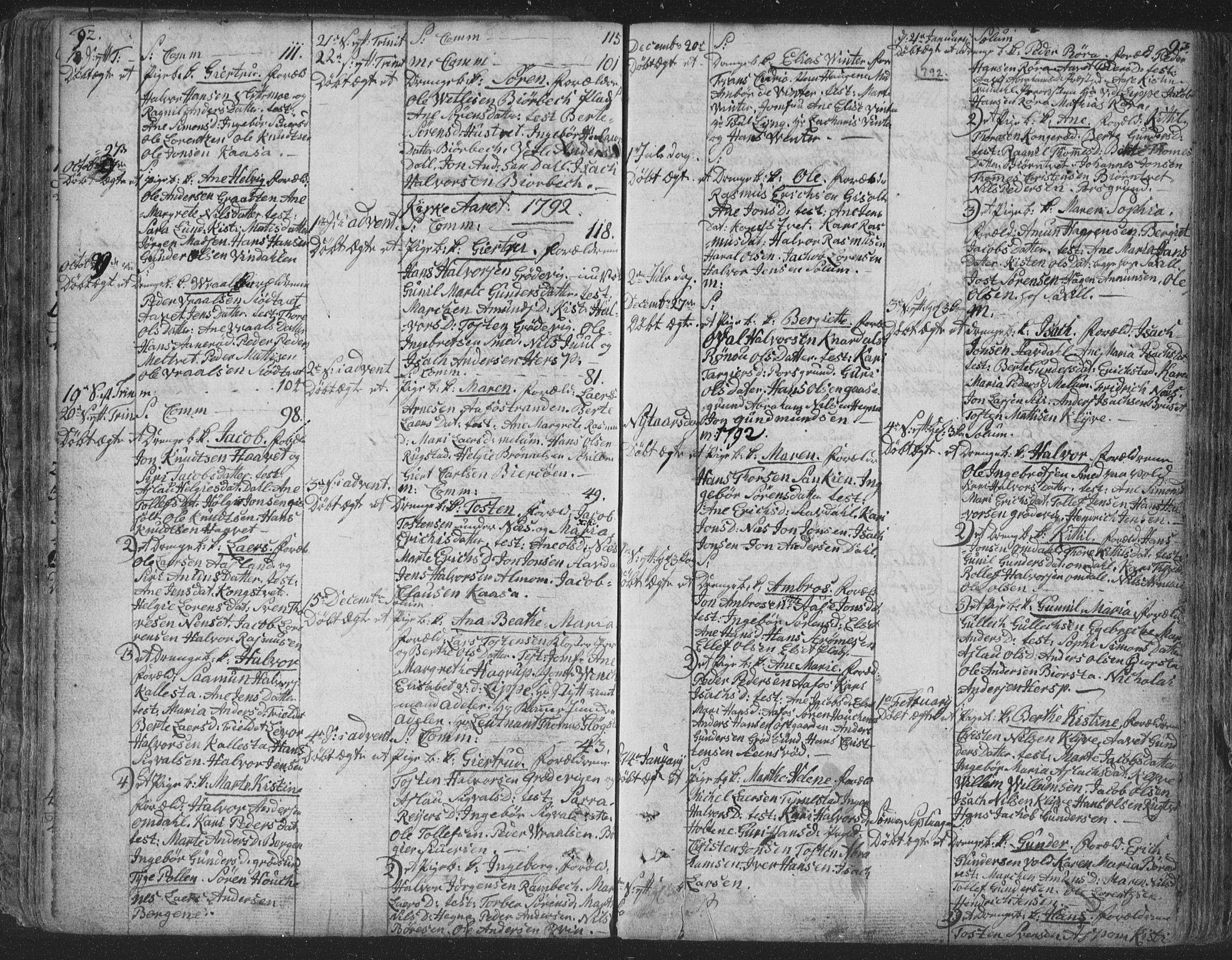 SAKO, Solum kirkebøker, F/Fa/L0003: Ministerialbok nr. I 3, 1761-1814, s. 92-93