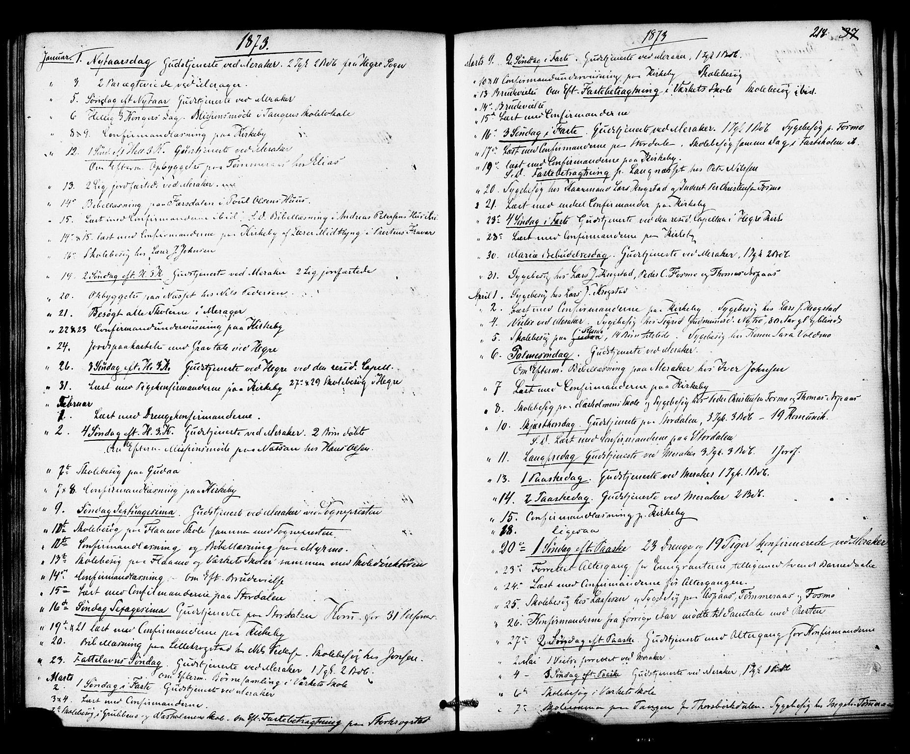 SAT, Ministerialprotokoller, klokkerbøker og fødselsregistre - Nord-Trøndelag, 706/L0041: Ministerialbok nr. 706A02, 1862-1877, s. 218