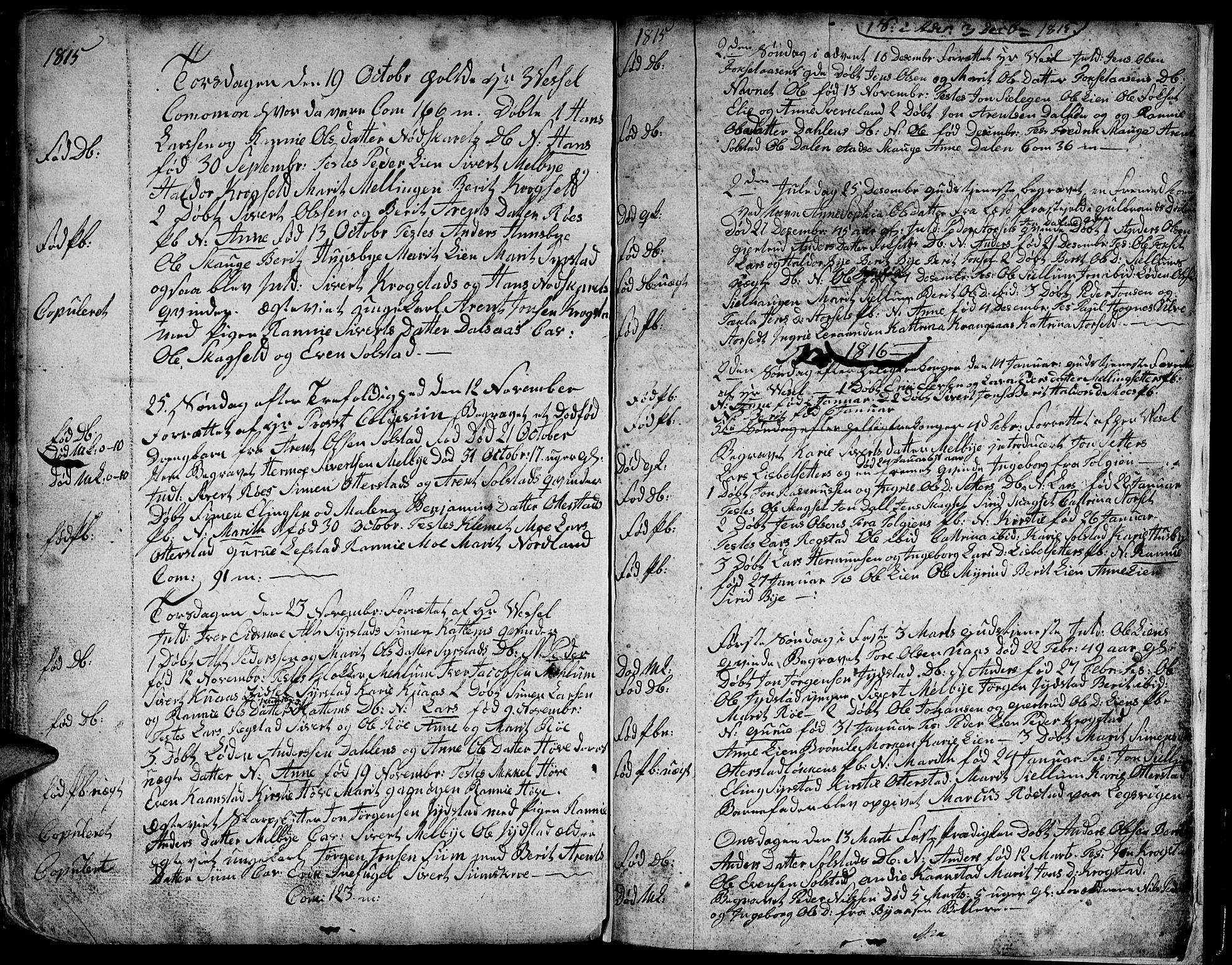 SAT, Ministerialprotokoller, klokkerbøker og fødselsregistre - Sør-Trøndelag, 667/L0794: Ministerialbok nr. 667A02, 1791-1816