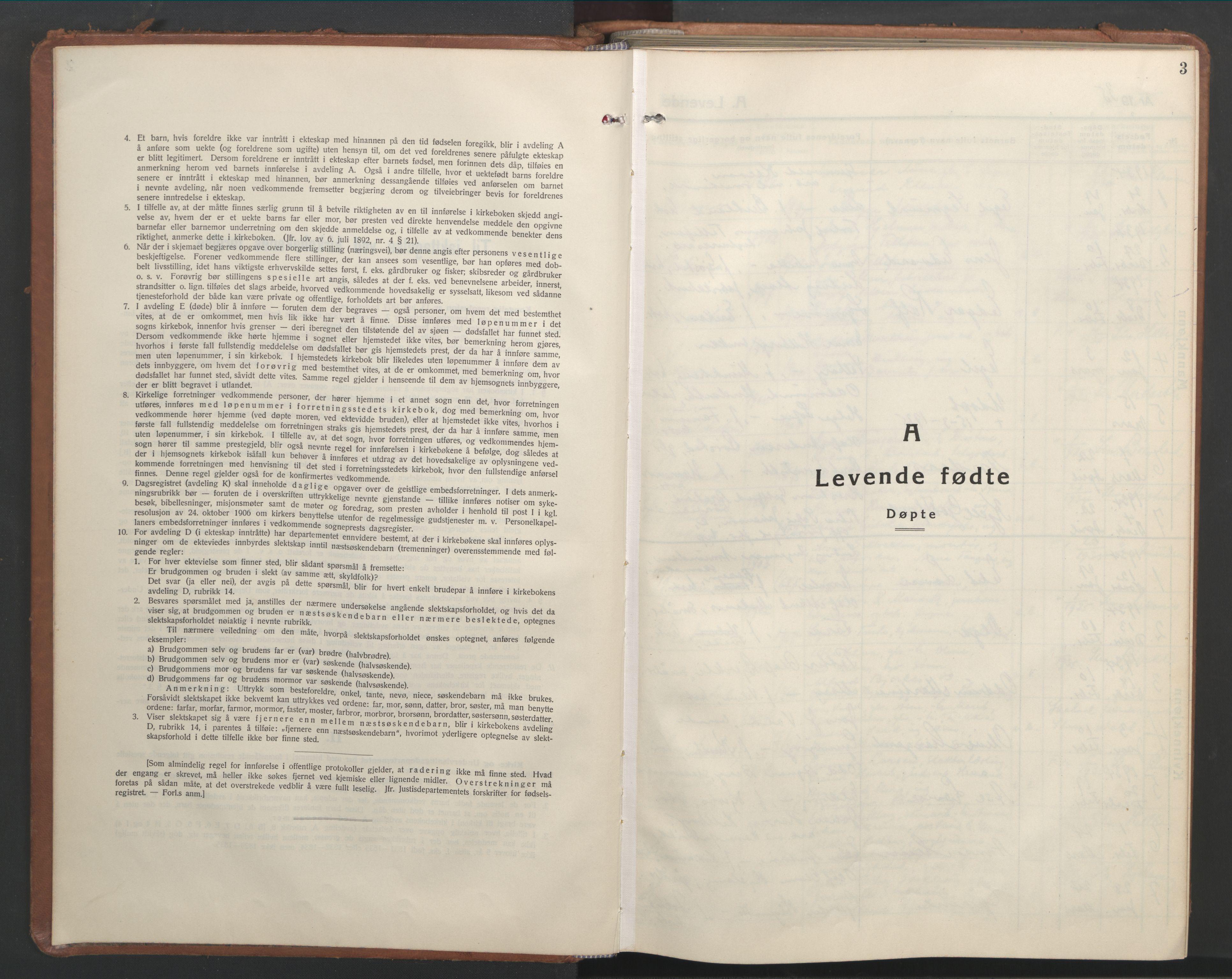 SAT, Ministerialprotokoller, klokkerbøker og fødselsregistre - Nord-Trøndelag, 709/L0089: Klokkerbok nr. 709C03, 1935-1948, s. 3
