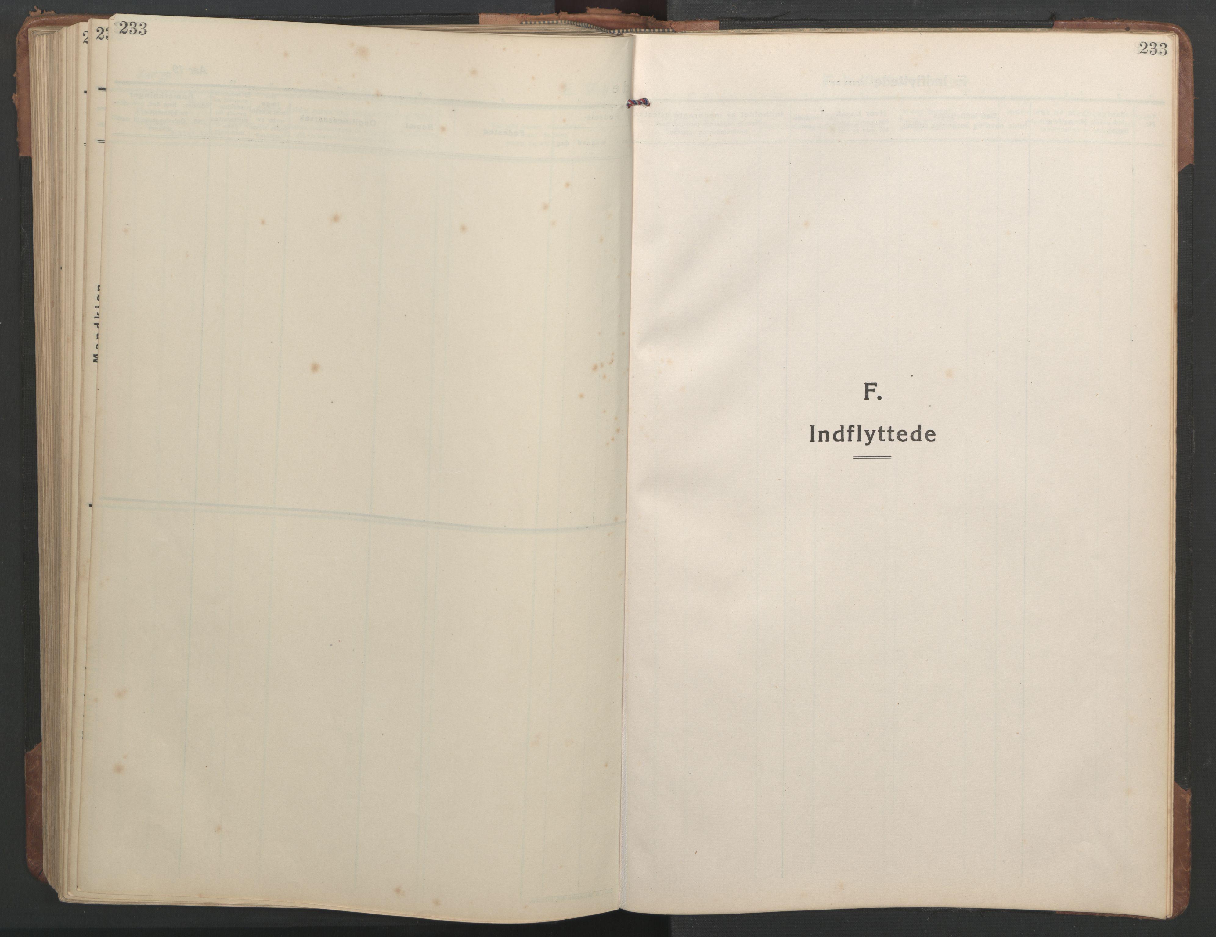 SAT, Ministerialprotokoller, klokkerbøker og fødselsregistre - Sør-Trøndelag, 638/L0569: Klokkerbok nr. 638C01, 1923-1961, s. 233