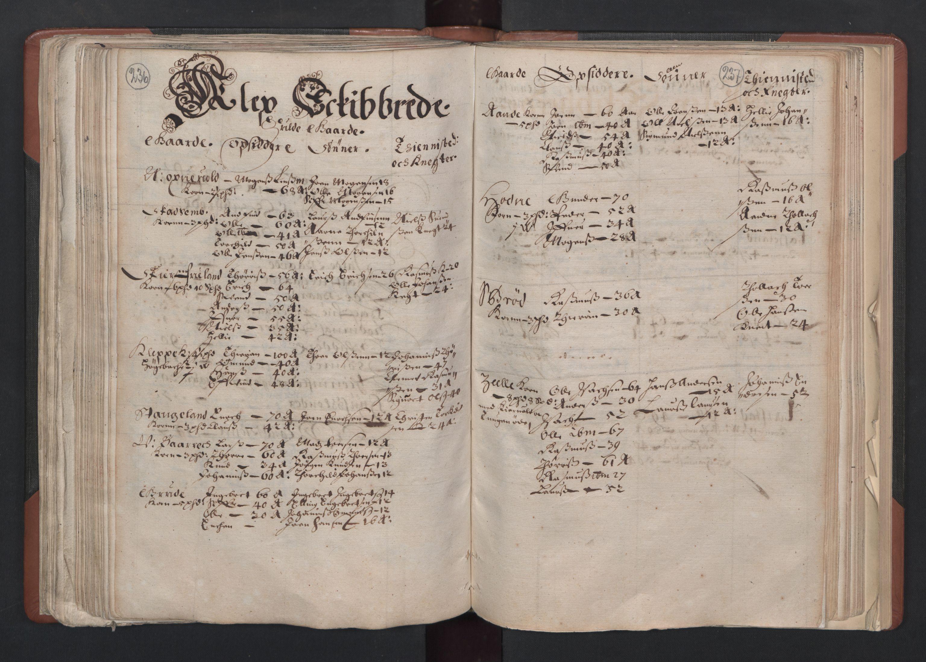 RA, Fogdenes og sorenskrivernes manntall 1664-1666, nr. 11: Jæren og Dalane fogderi, 1664, s. 236-237