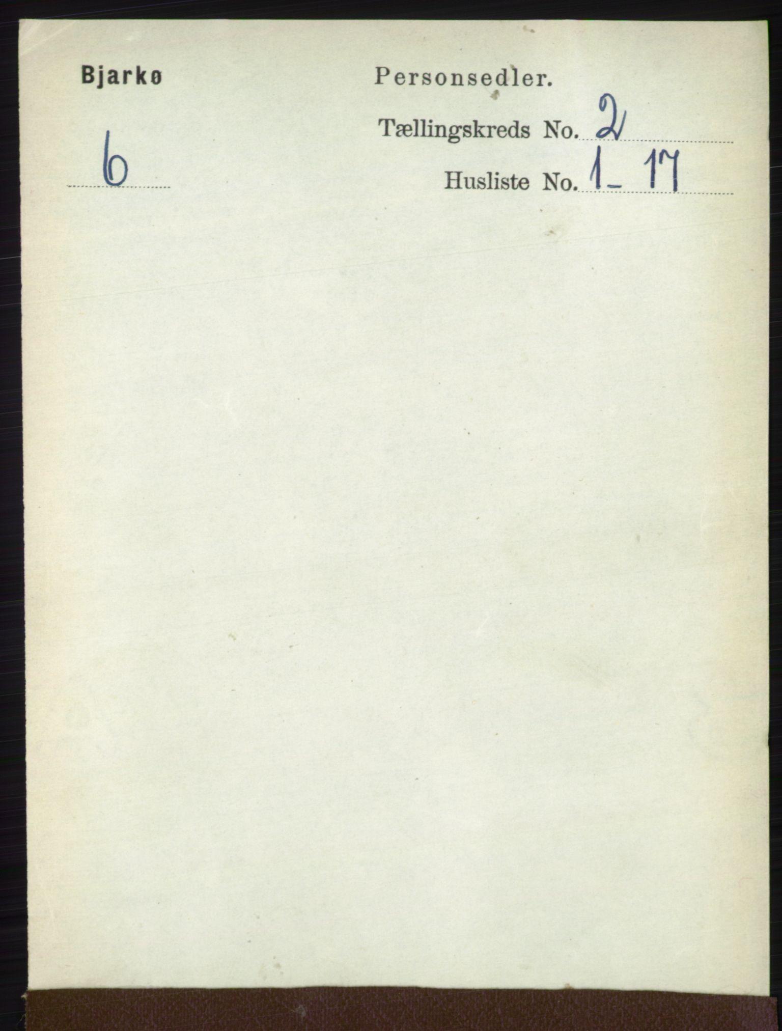 RA, Folketelling 1891 for 1915 Bjarkøy herred, 1891, s. 688