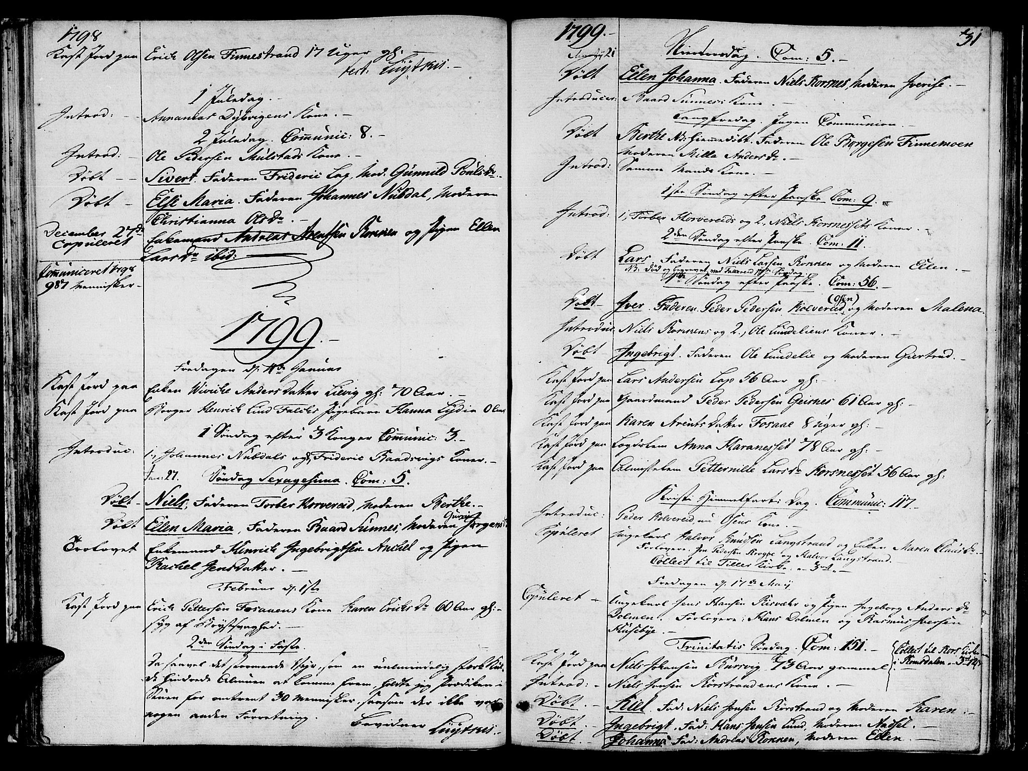 SAT, Ministerialprotokoller, klokkerbøker og fødselsregistre - Nord-Trøndelag, 780/L0633: Ministerialbok nr. 780A02 /1, 1787-1814, s. 31