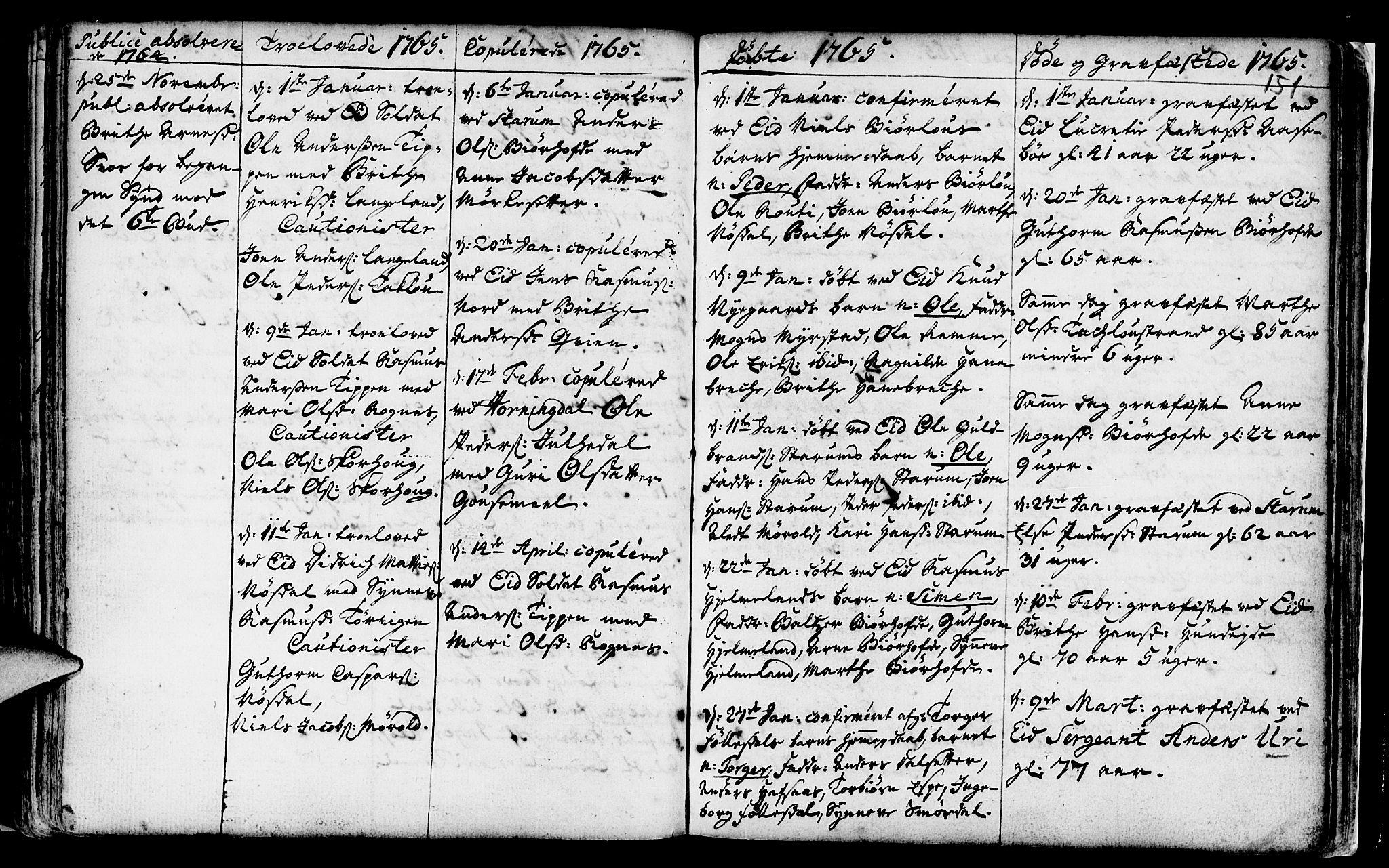 SAB, Eid Sokneprestembete, H/Haa: Ministerialbok nr. A 2, 1741-1769, s. 151
