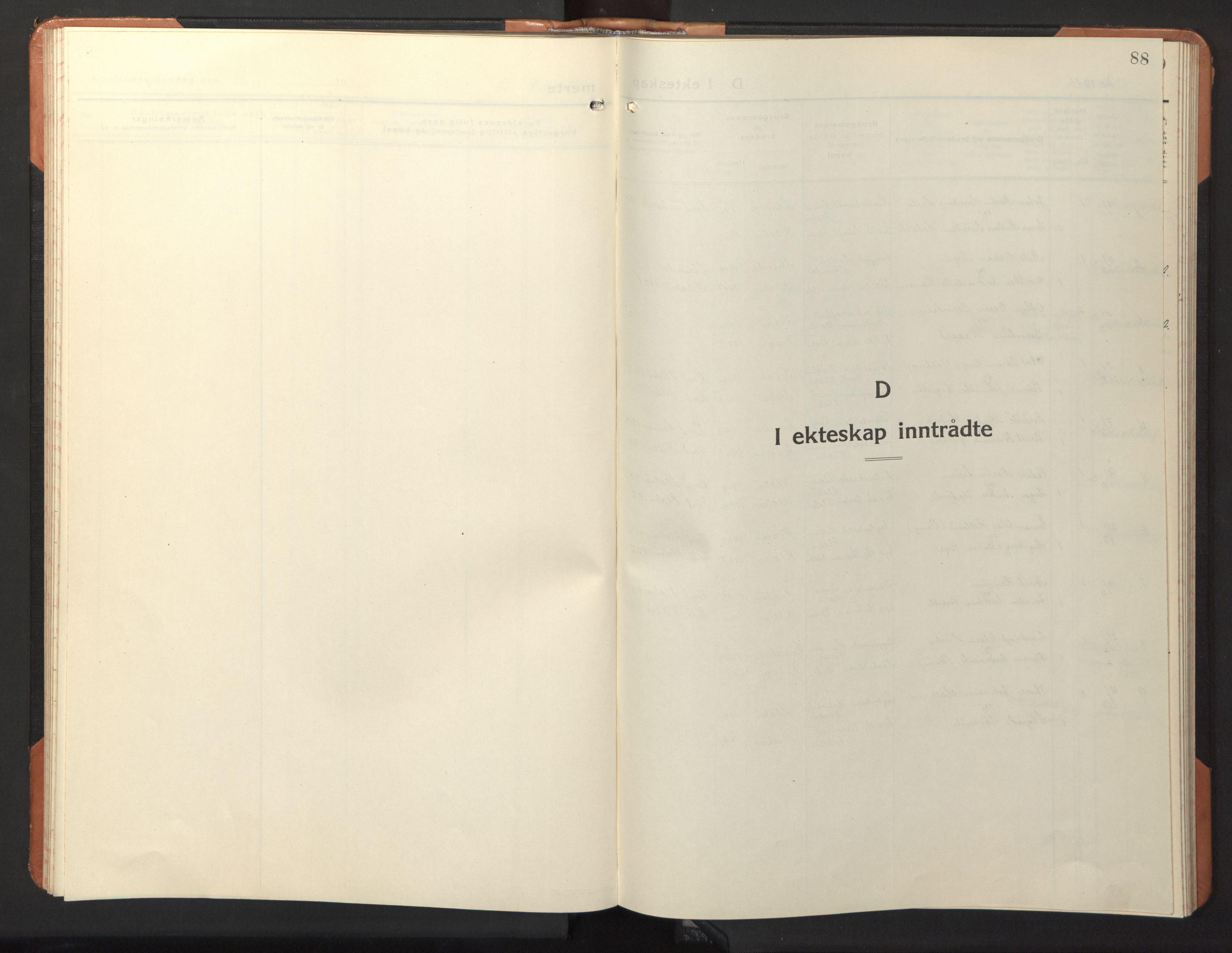 SAT, Ministerialprotokoller, klokkerbøker og fødselsregistre - Sør-Trøndelag, 618/L0454: Klokkerbok nr. 618C05, 1926-1946, s. 88