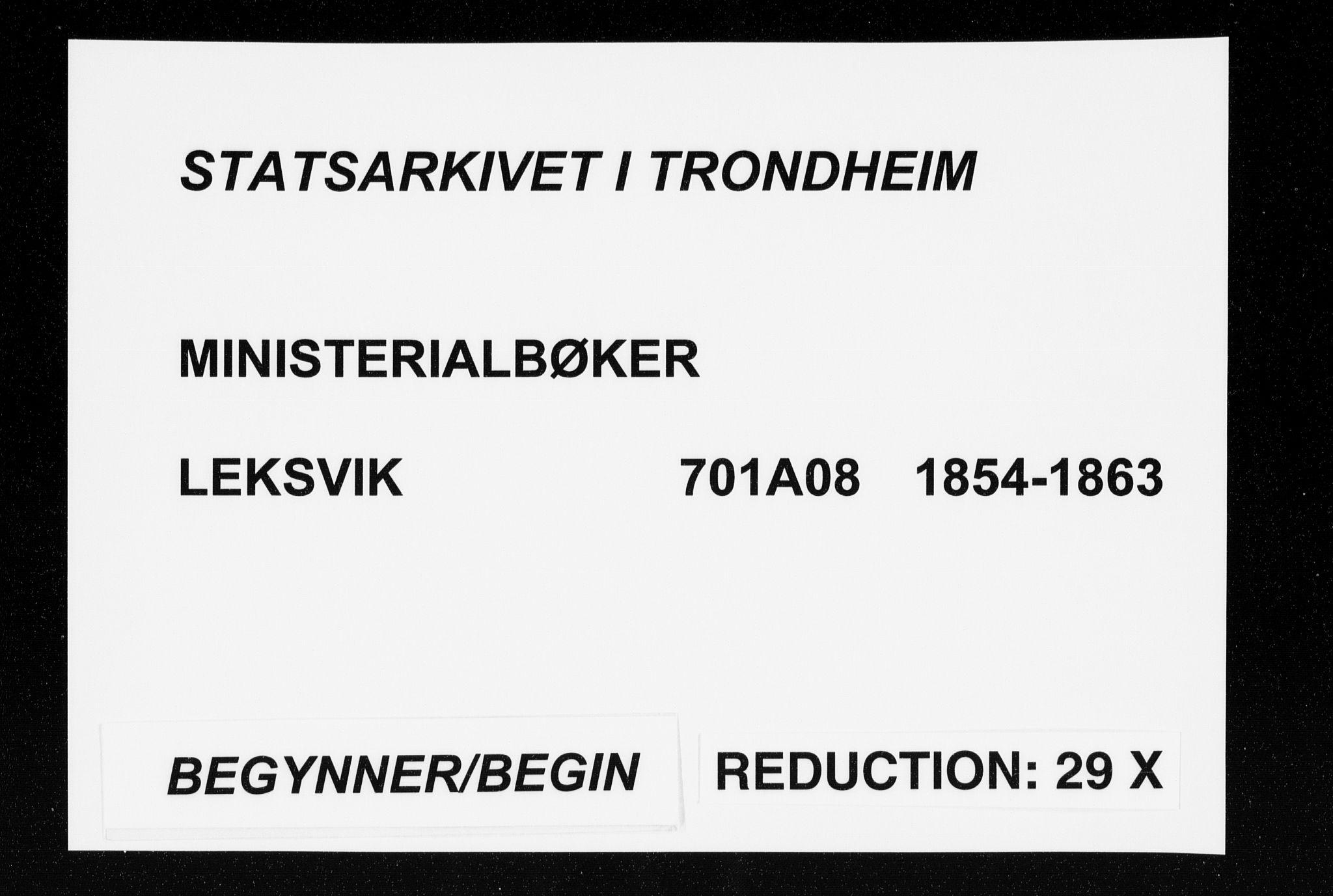 SAT, Ministerialprotokoller, klokkerbøker og fødselsregistre - Nord-Trøndelag, 701/L0008: Ministerialbok nr. 701A08 /2, 1854-1863