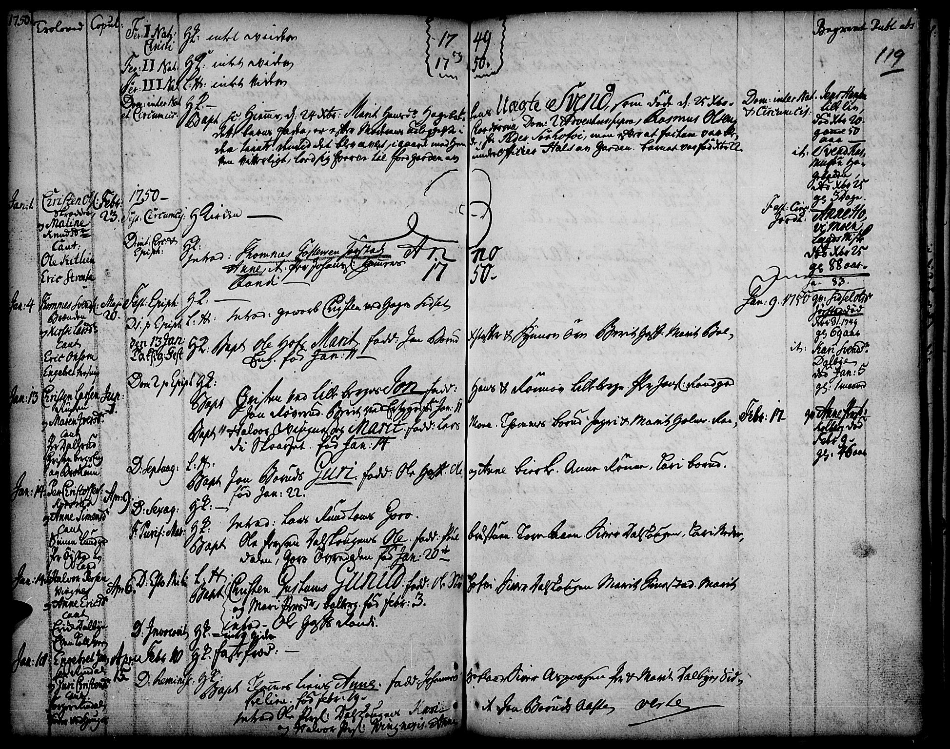 SAH, Fåberg prestekontor, Ministerialbok nr. 1, 1727-1775, s. 119