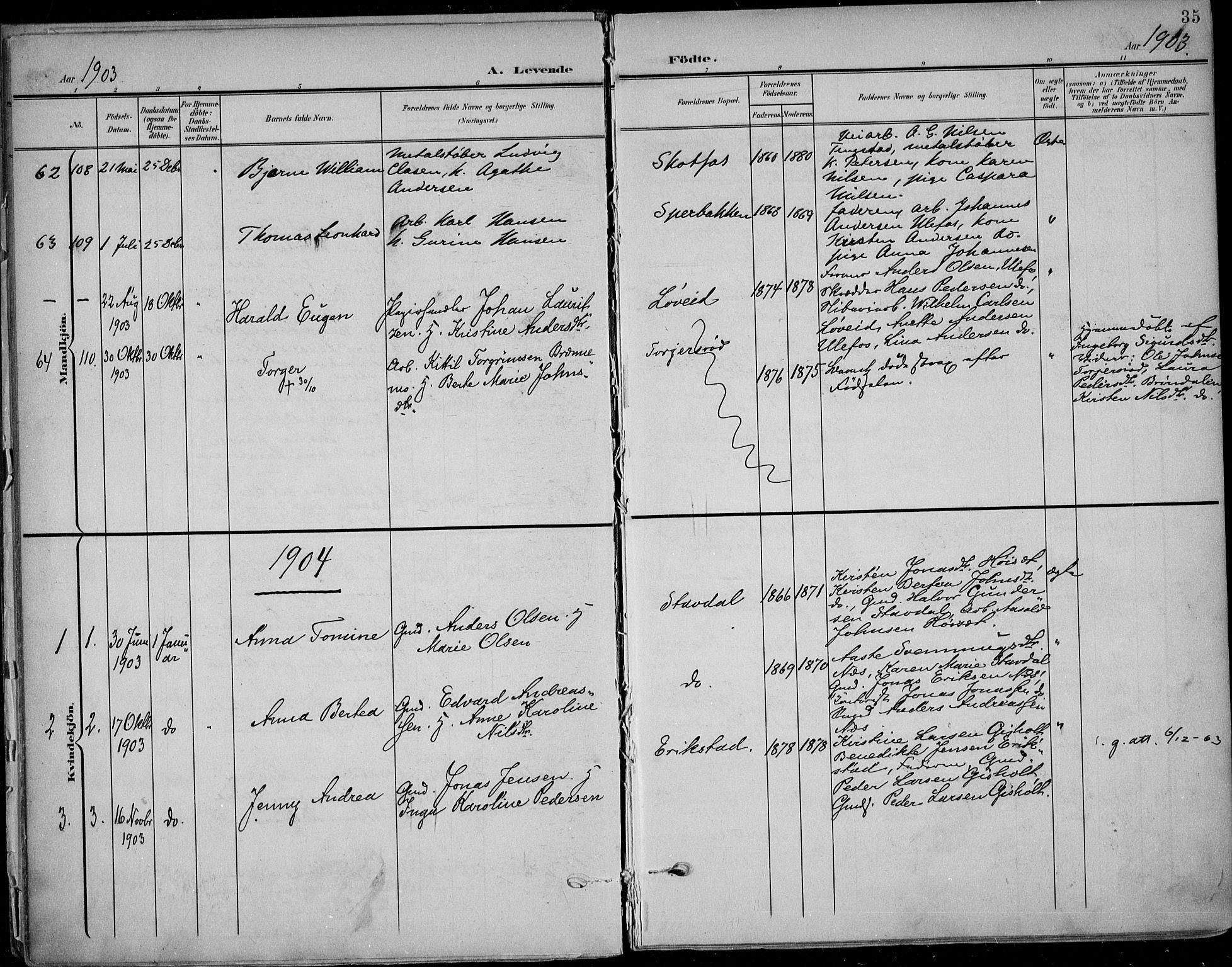 SAKO, Solum kirkebøker, F/Fb/L0003: Ministerialbok nr. II 3, 1901-1912, s. 35
