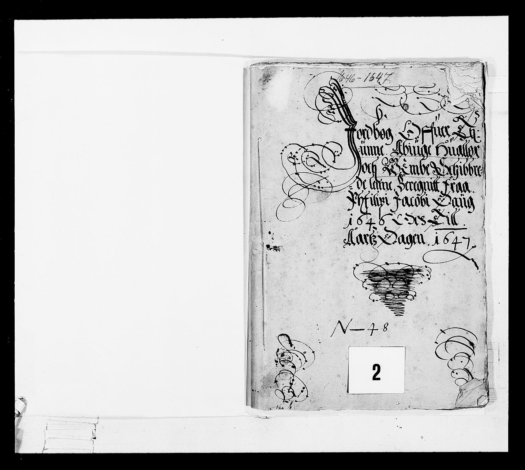 RA, Stattholderembetet 1572-1771, Ek/L0022: Jordebøker 1633-1658:, 1646-1647, s. 2