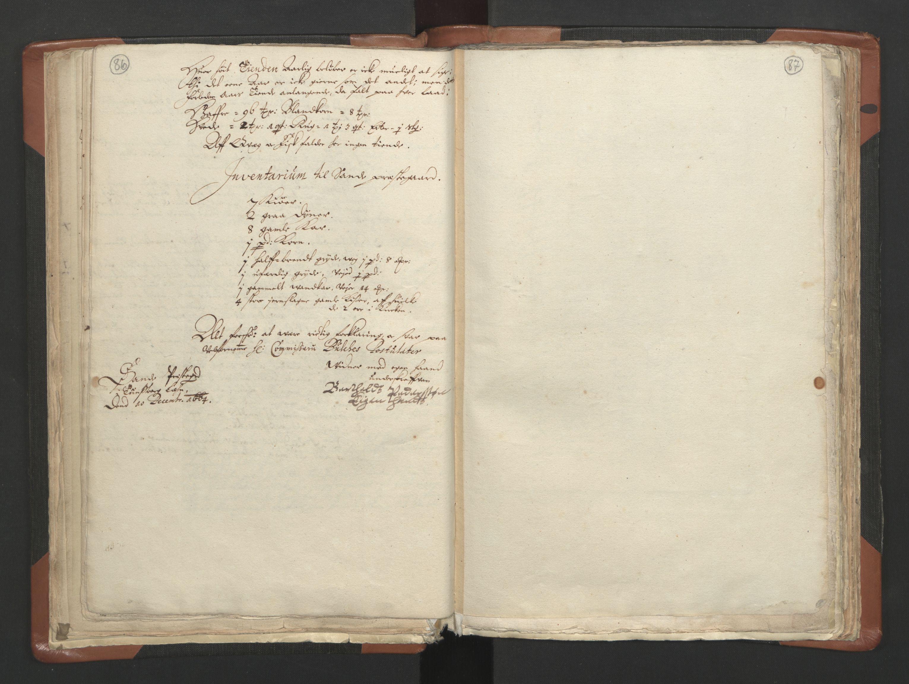 RA, Sogneprestenes manntall 1664-1666, nr. 10: Tønsberg prosti, 1664-1666, s. 86-87