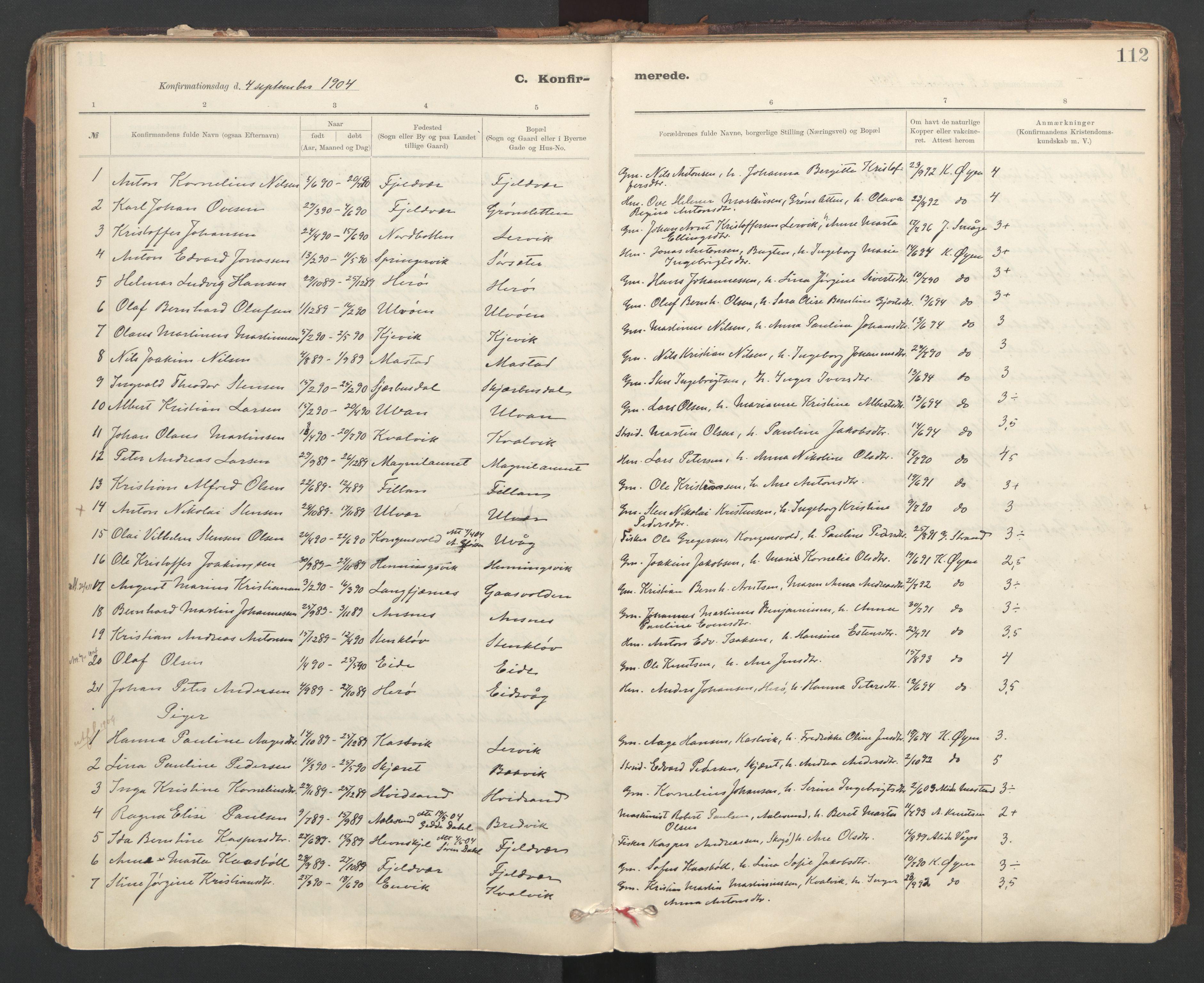 SAT, Ministerialprotokoller, klokkerbøker og fødselsregistre - Sør-Trøndelag, 637/L0559: Ministerialbok nr. 637A02, 1899-1923, s. 112
