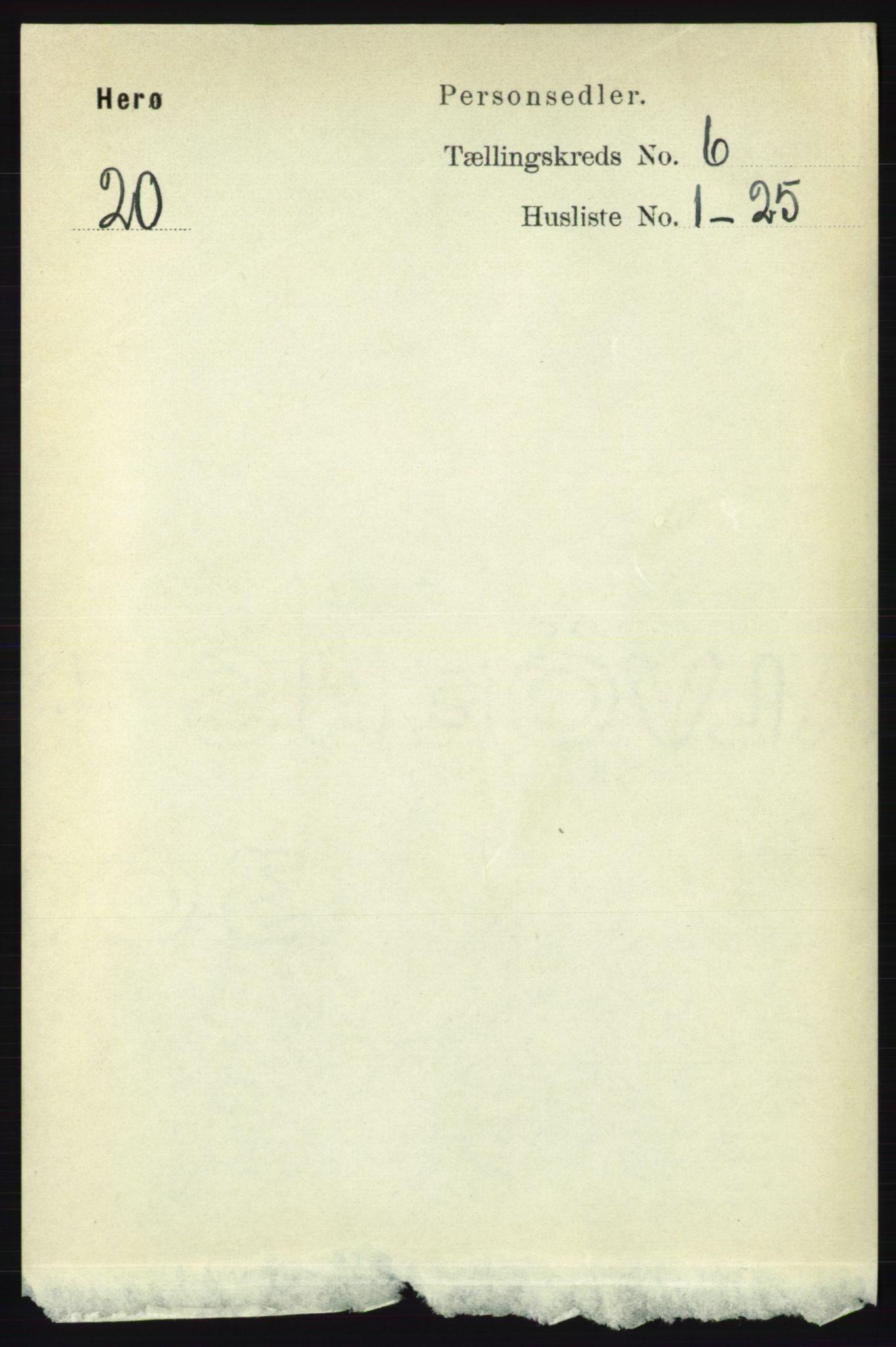 RA, Folketelling 1891 for 1818 Herøy herred, 1891, s. 1915