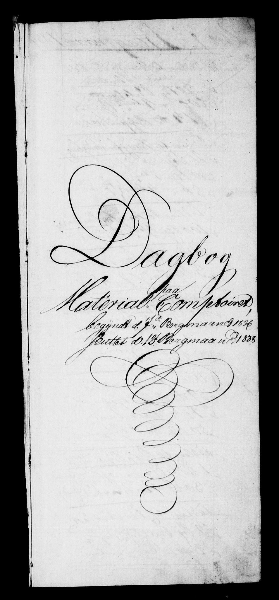 RA, Modums Blaafarveværk, G/Gd/Gdb/L0201: Annotations Bog, Dagbok over inn- og utgående materiale, 1836-1839, s. 2