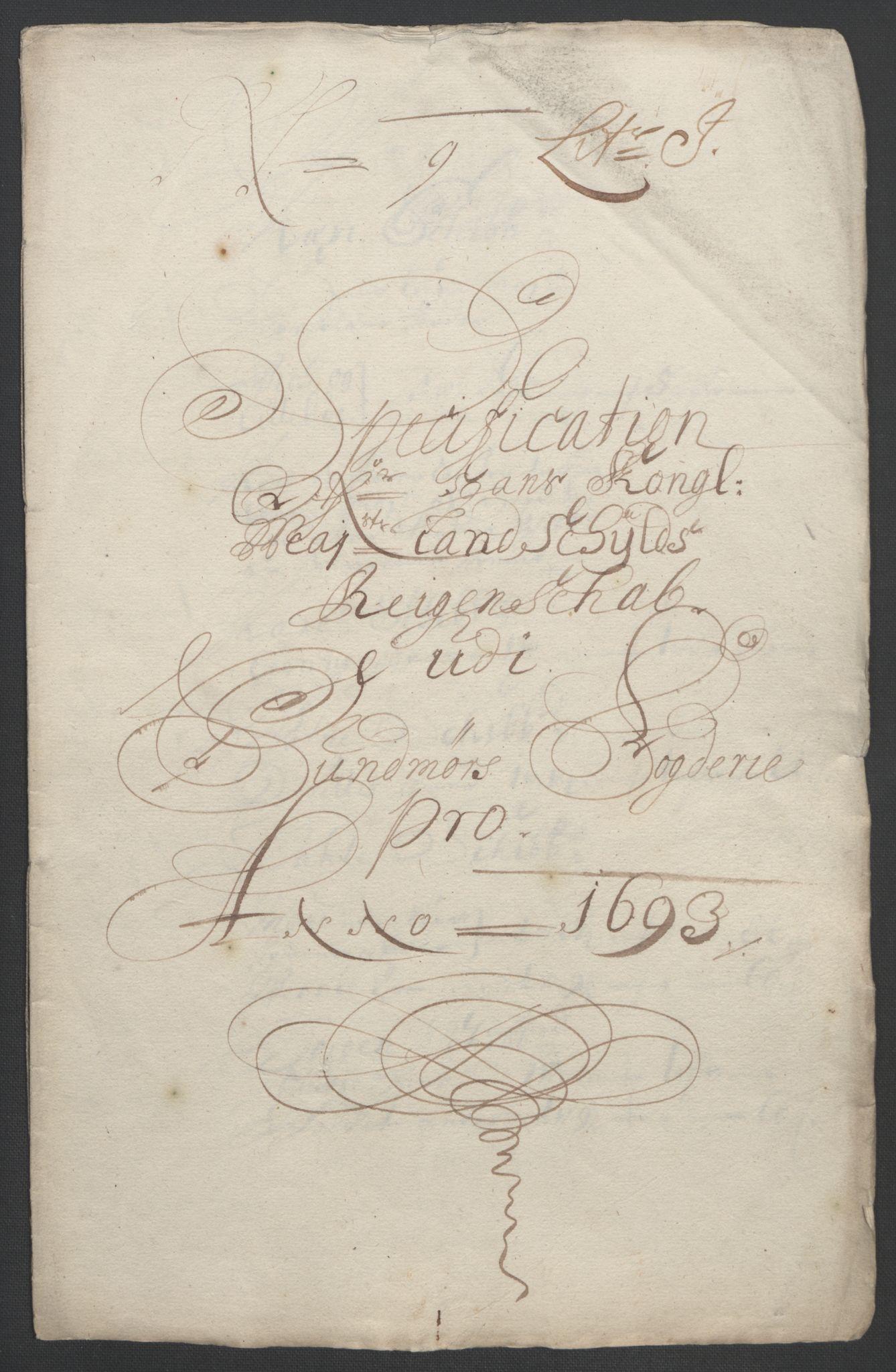 RA, Rentekammeret inntil 1814, Reviderte regnskaper, Fogderegnskap, R54/L3554: Fogderegnskap Sunnmøre, 1691-1693, s. 517