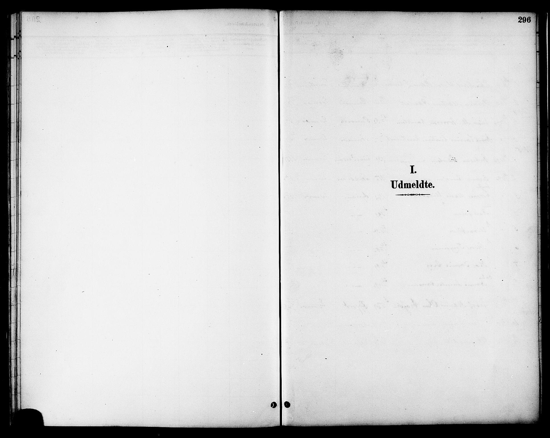 SAT, Ministerialprotokoller, klokkerbøker og fødselsregistre - Nordland, 863/L0898: Ministerialbok nr. 863A10, 1886-1897, s. 296