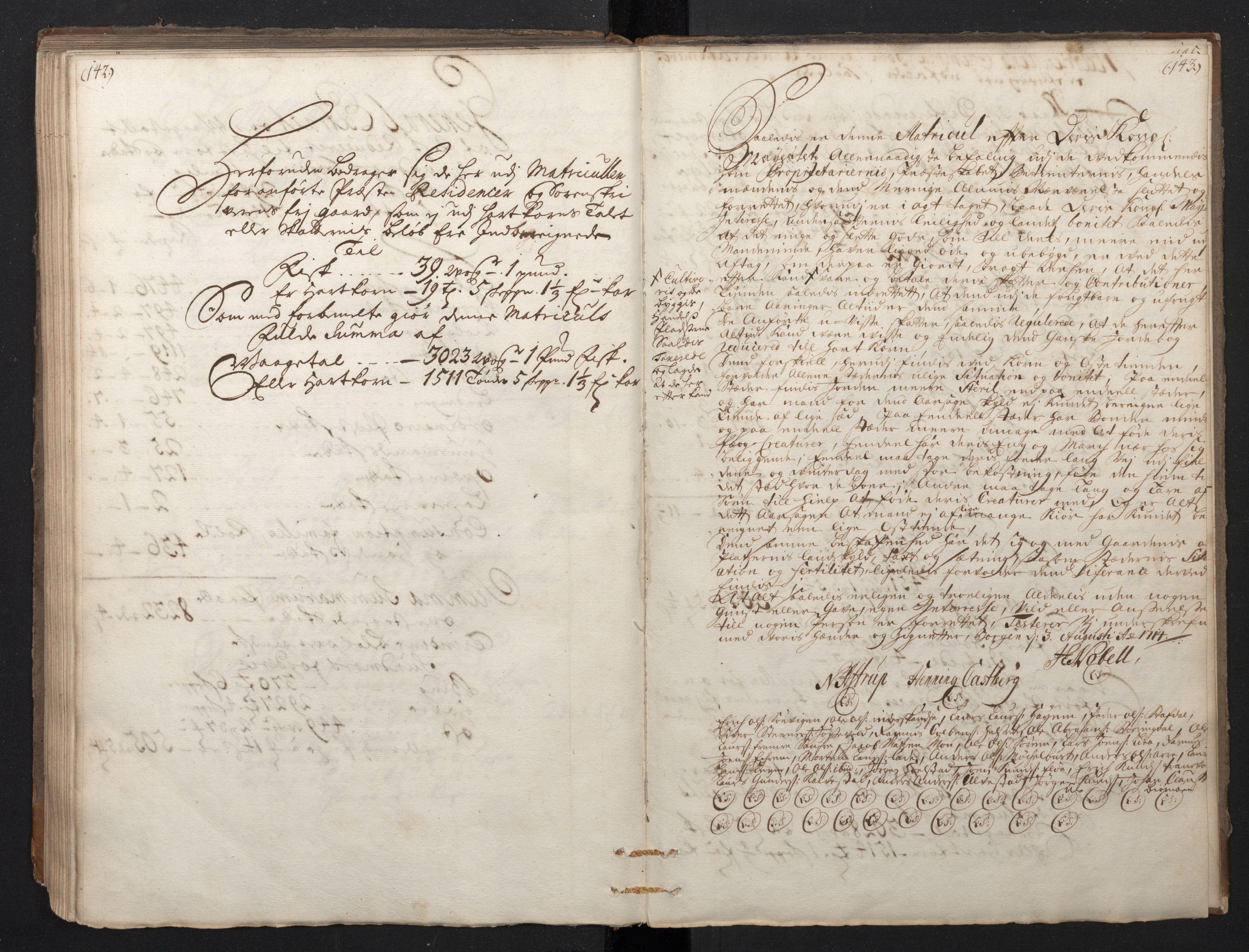 RA, Rentekammeret inntil 1814, Realistisk ordnet avdeling, N/Nb/Nbf/L0149: Sunnmøre, prøvematrikkel, 1714, s. 142-143