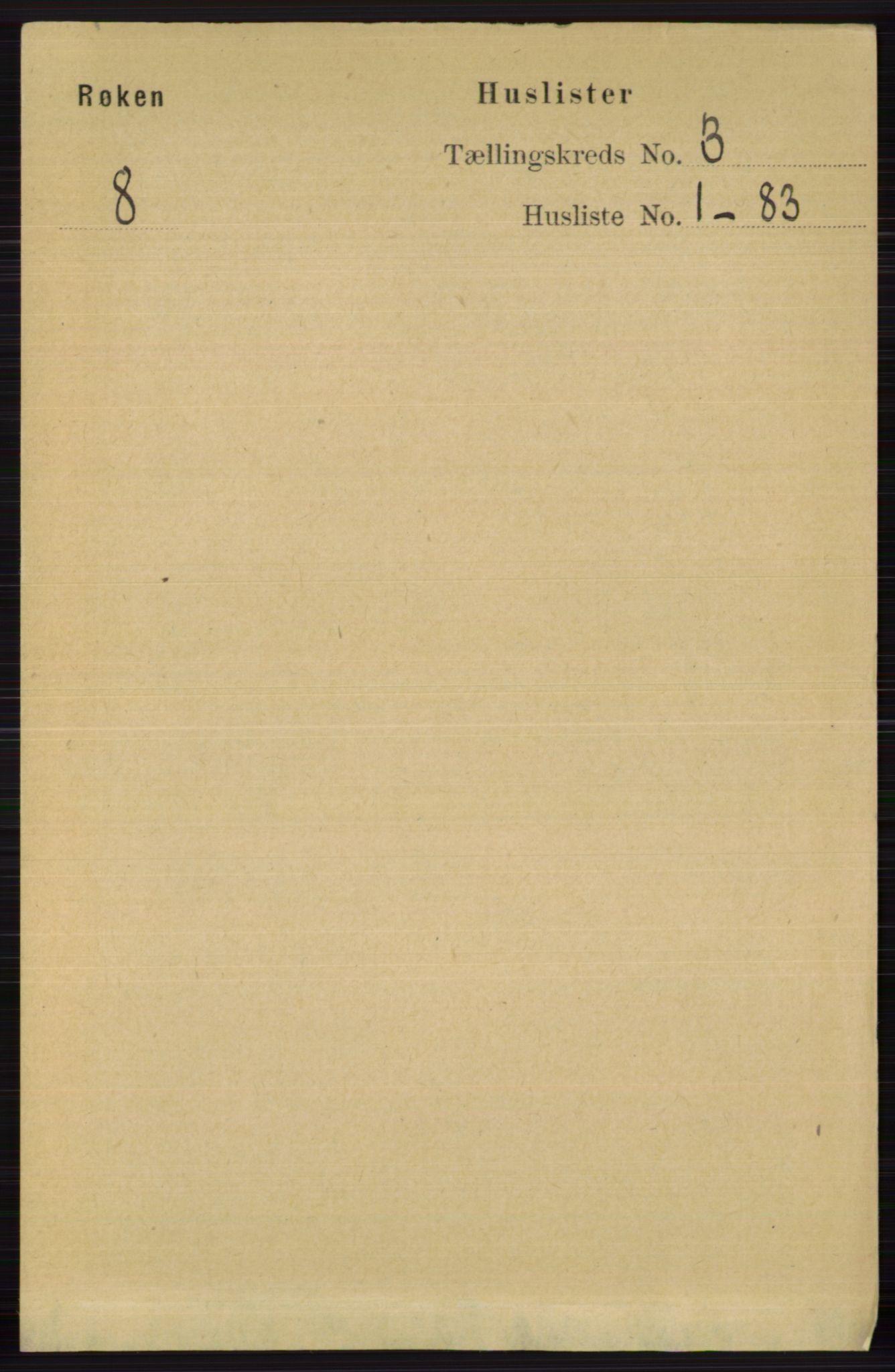 RA, Folketelling 1891 for 0627 Røyken herred, 1891, s. 1108