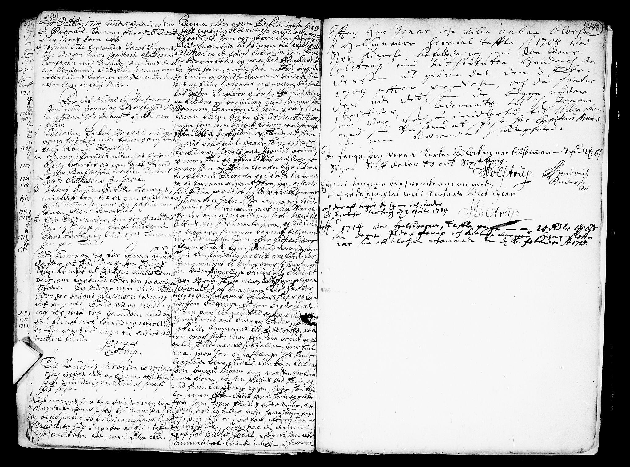 SAO, Nes prestekontor Kirkebøker, F/Fa/L0001: Ministerialbok nr. I 1, 1689-1716, s. 442